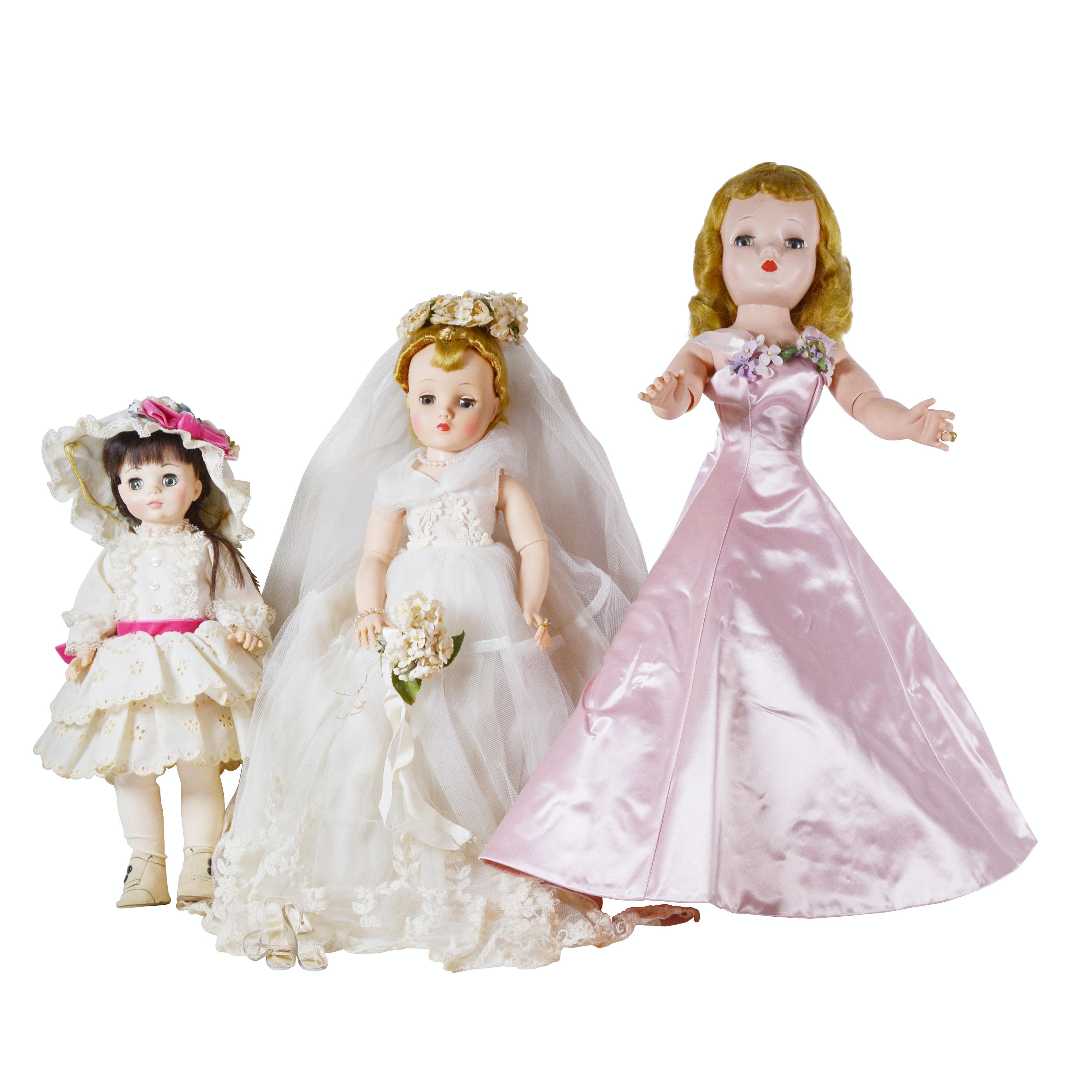 Madam Alexander Dolls and Assorted Clothing