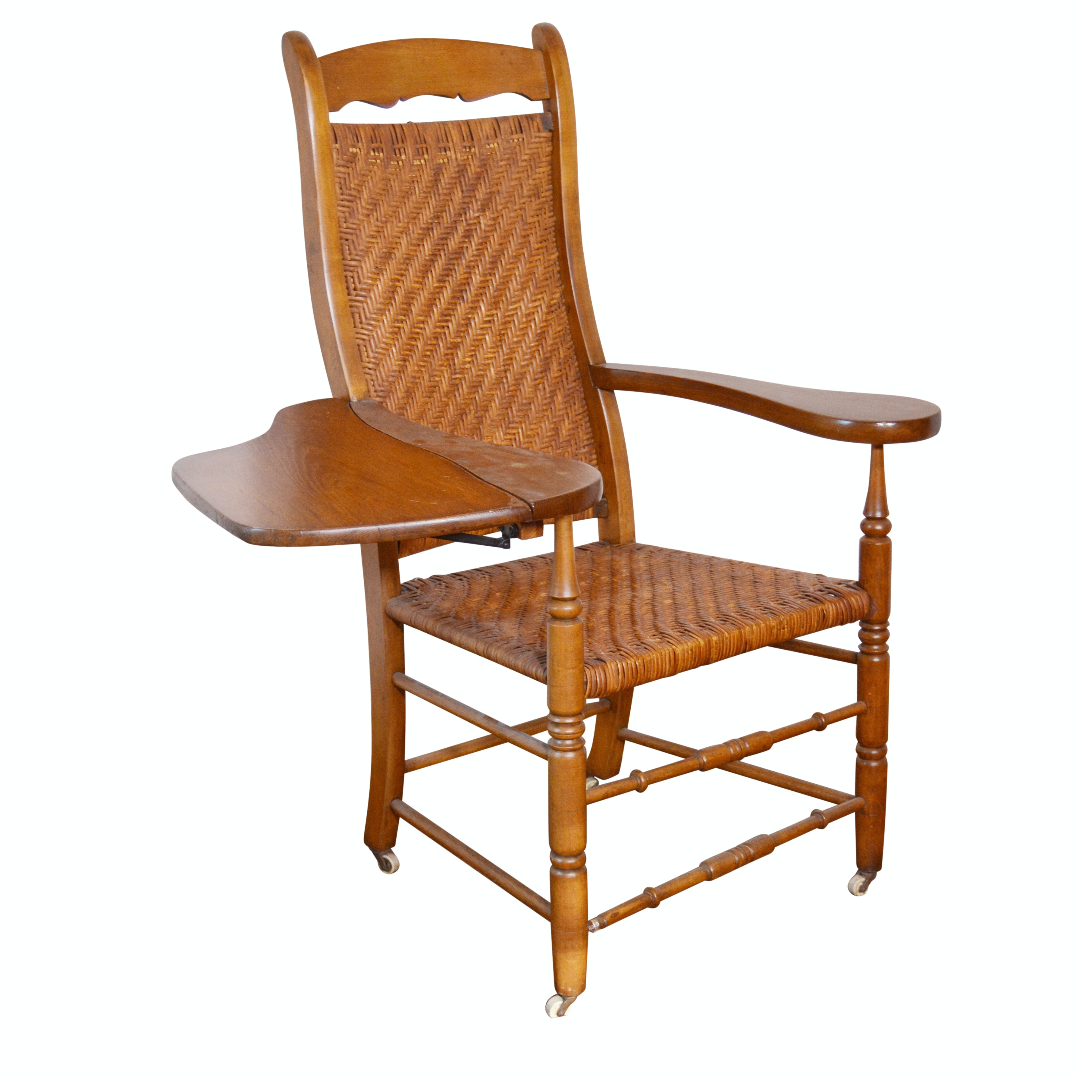 Delaware Chair Company Writing-Arm Chair, Late 19th/Early 20th Century