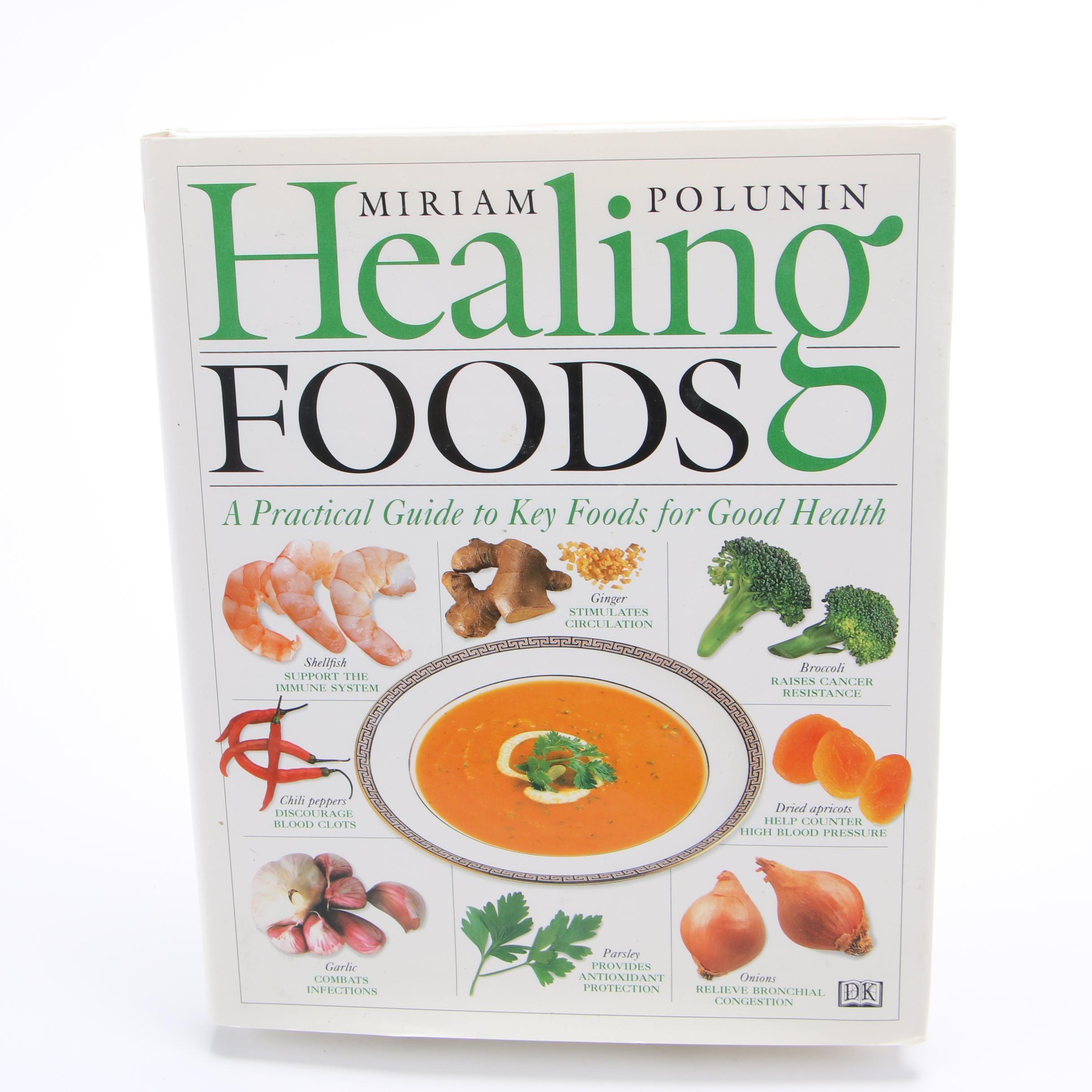"1997 First Printing ""Healing Foods"" by Miriam Polunin"