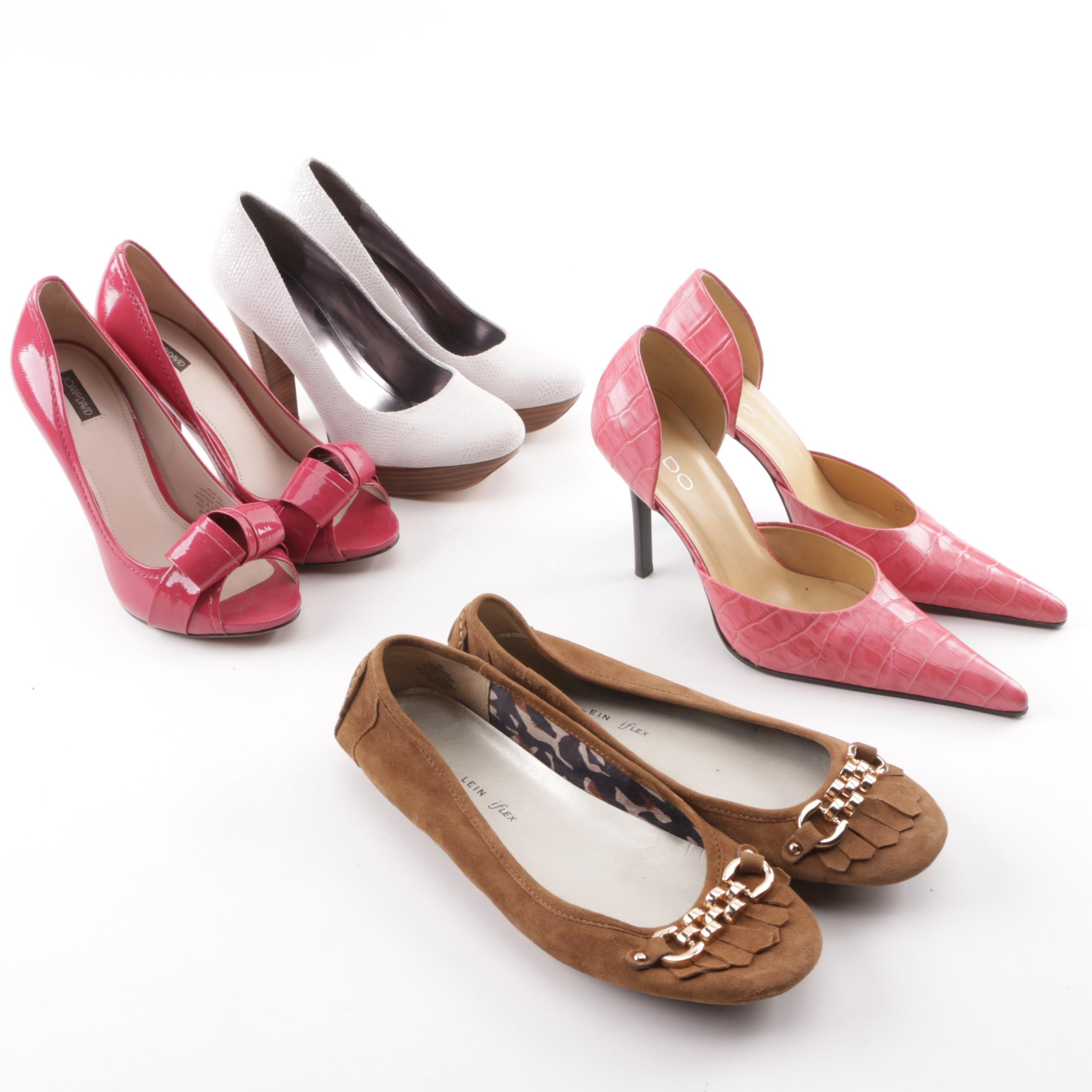 Women's High-Heeled Pumps and Moccasins including Calvin Klein and Joan & David