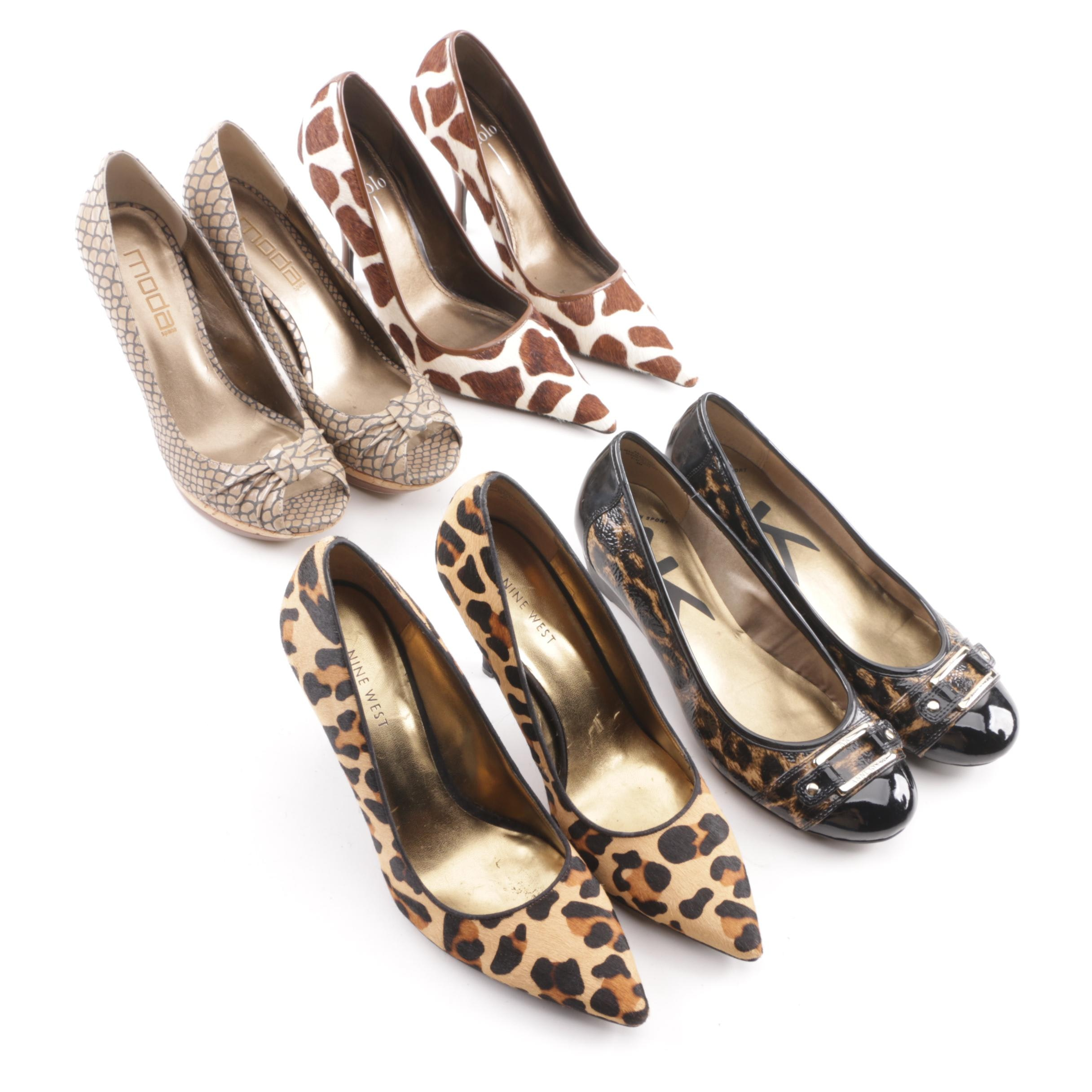 Women's Animal Print Pumps including Linea Paolo and Anne Klein