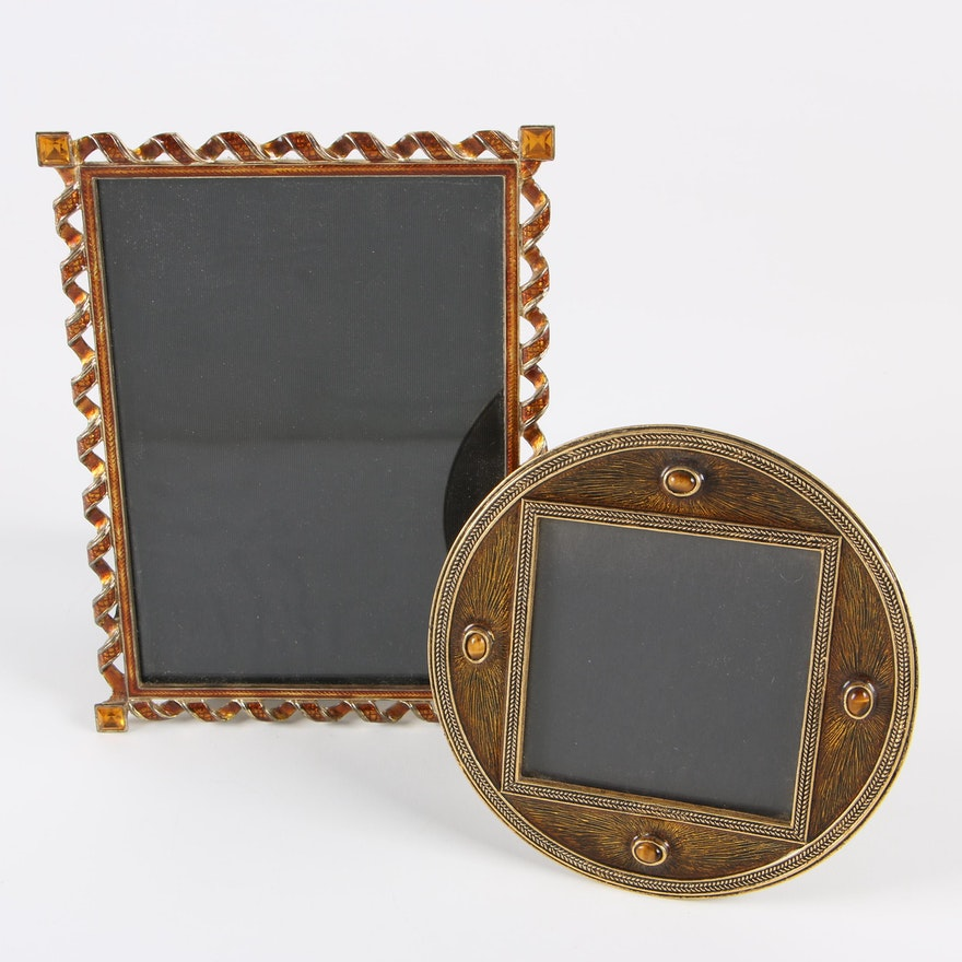 Mike And Ally Tigers Eye Embellished Frame With A Nicole Miller
