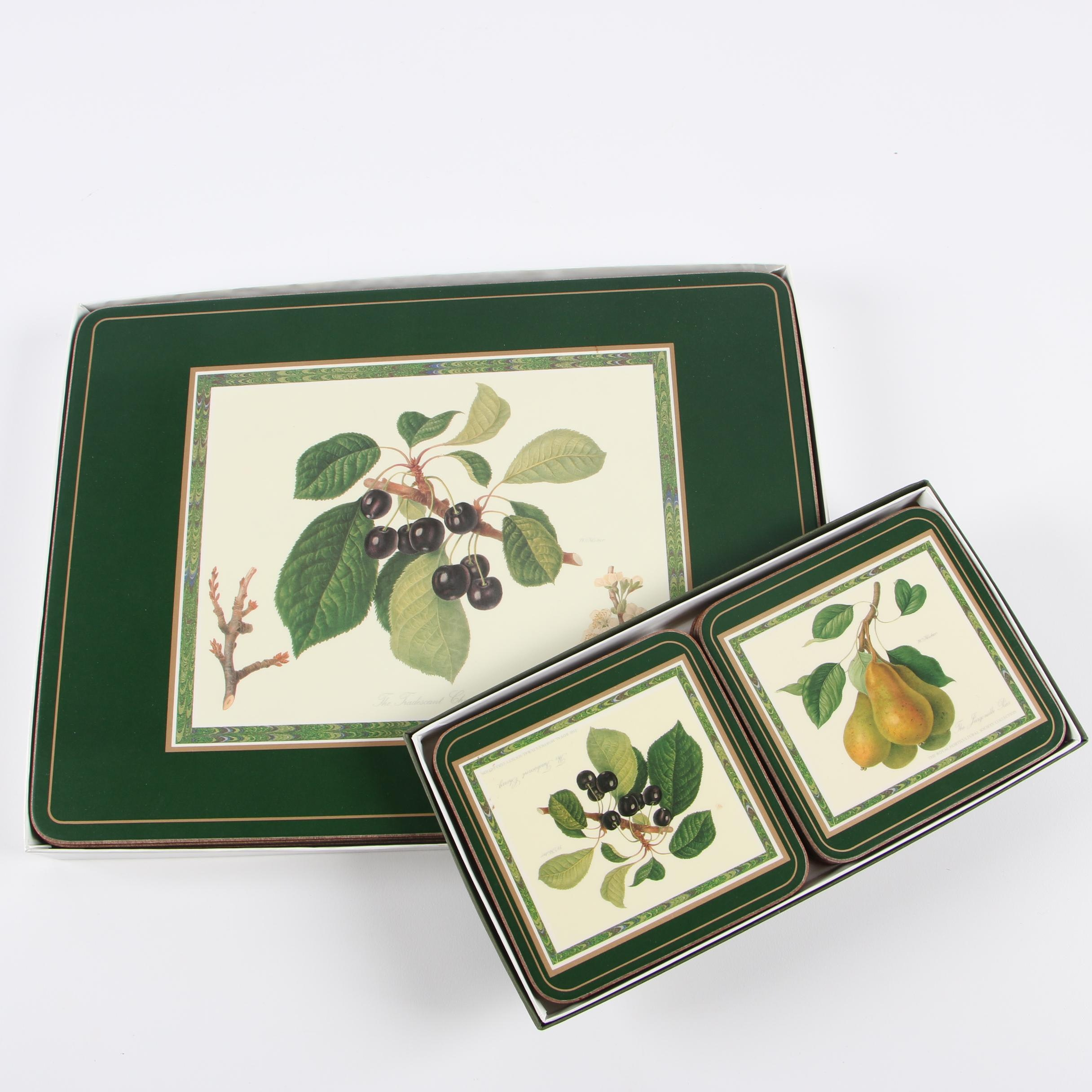 Pimpernel Fruit Motif Placemats and Coasters after William Hooker