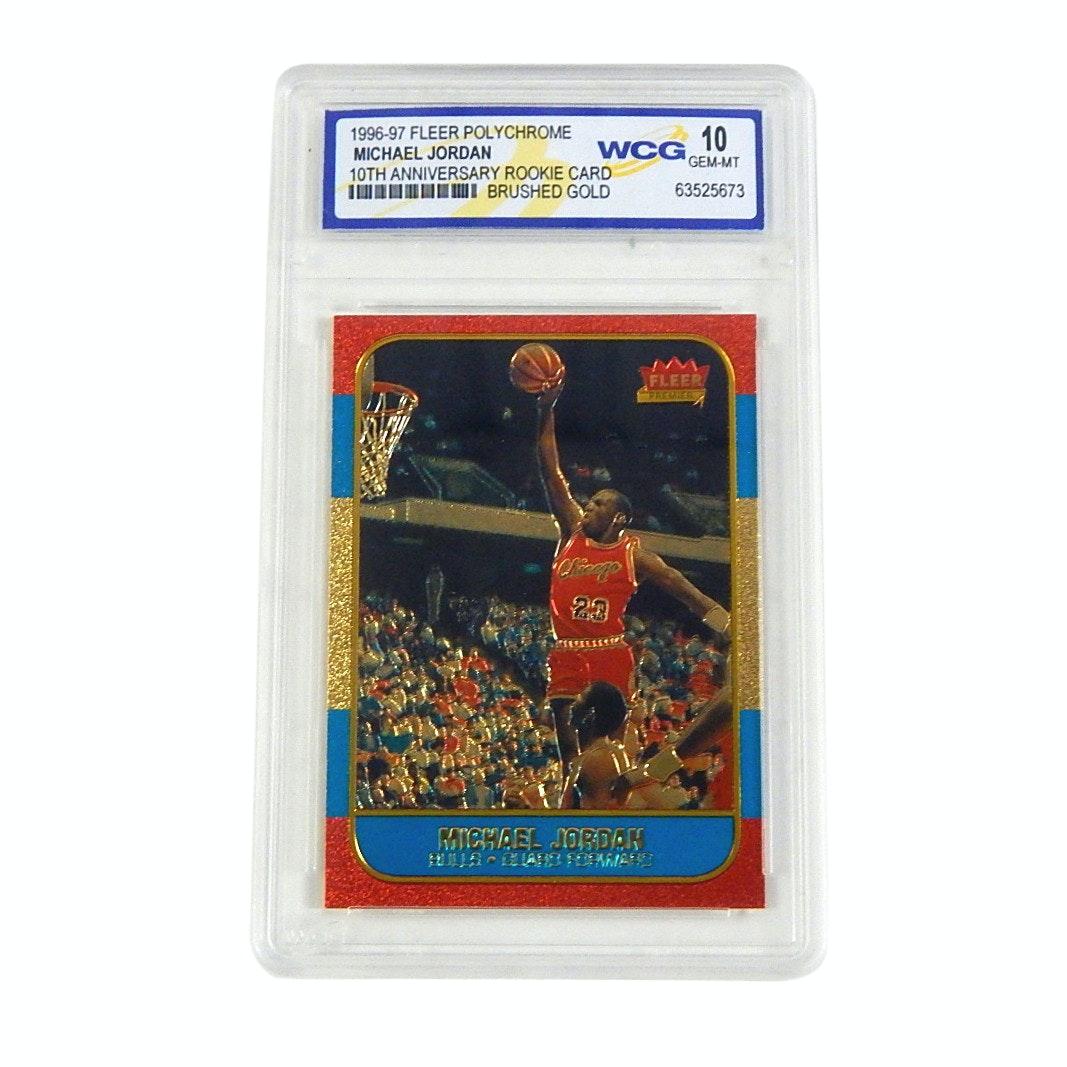 WCG GEM-MT 10 Michael Jordan 1996-97 Fleer Rookie Card