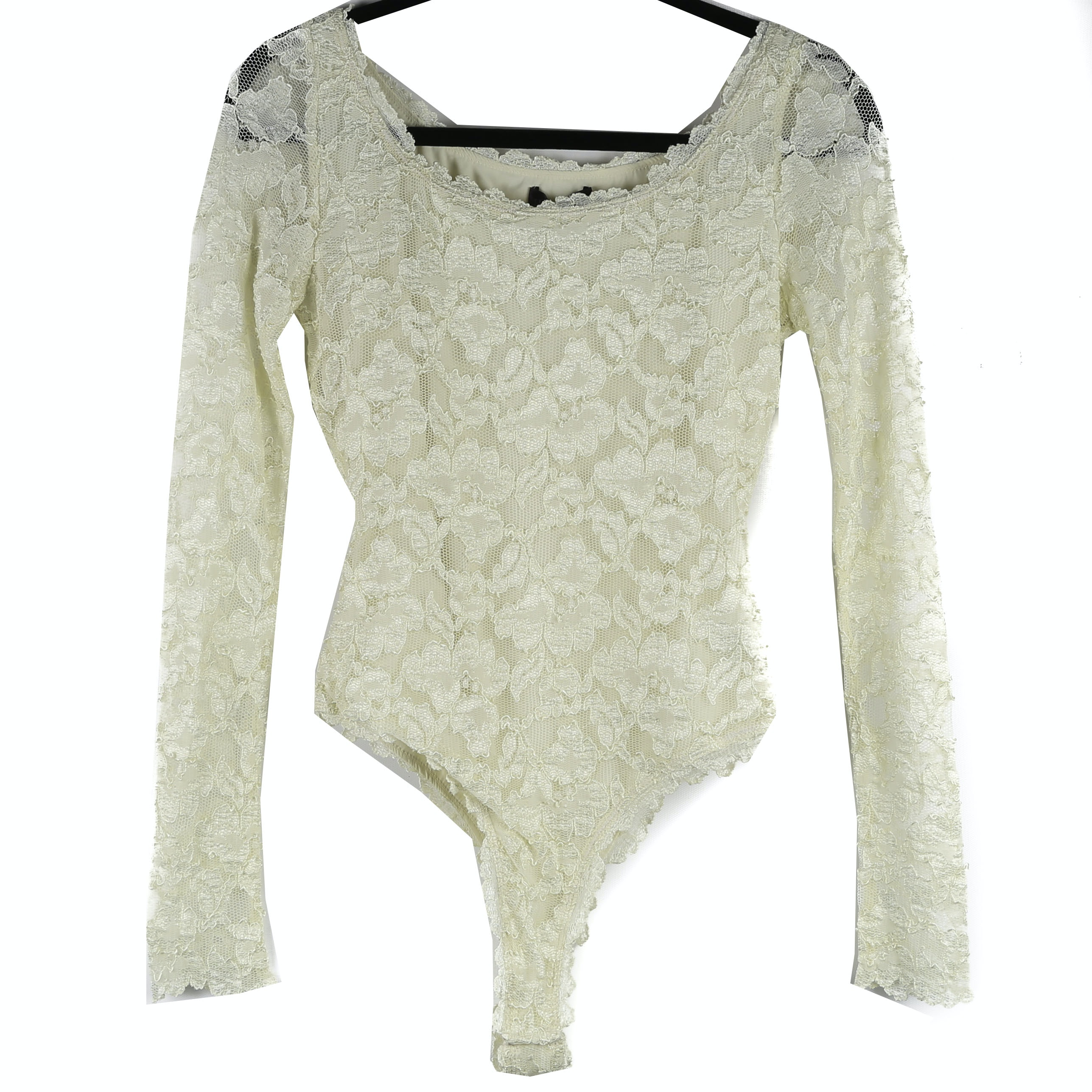 Hale Bob Long Sleeved Lace Bodysuit Blouse