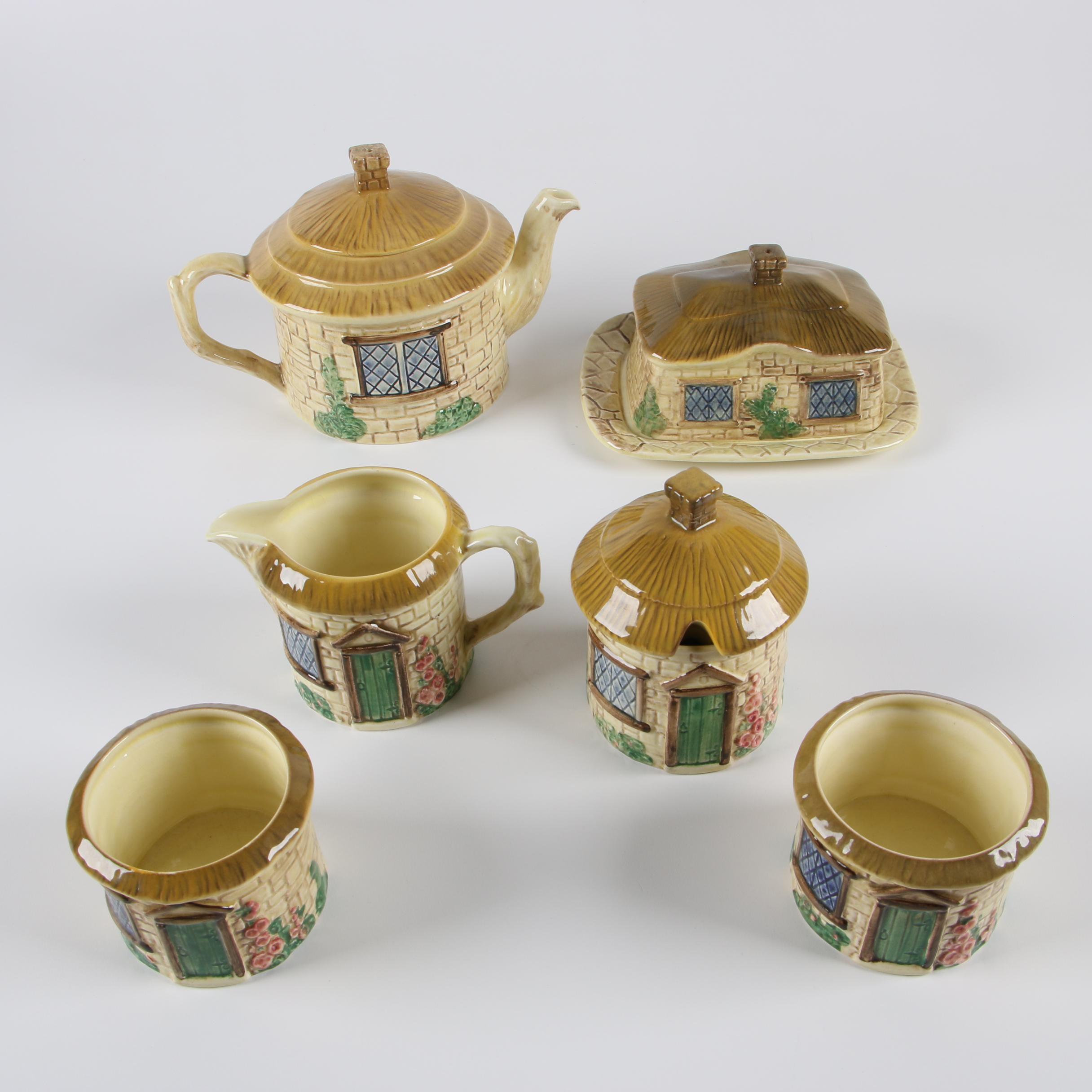 "Mid-Century English SylvaC ""Cottage Ware"" Tea Set Circa 1960s"