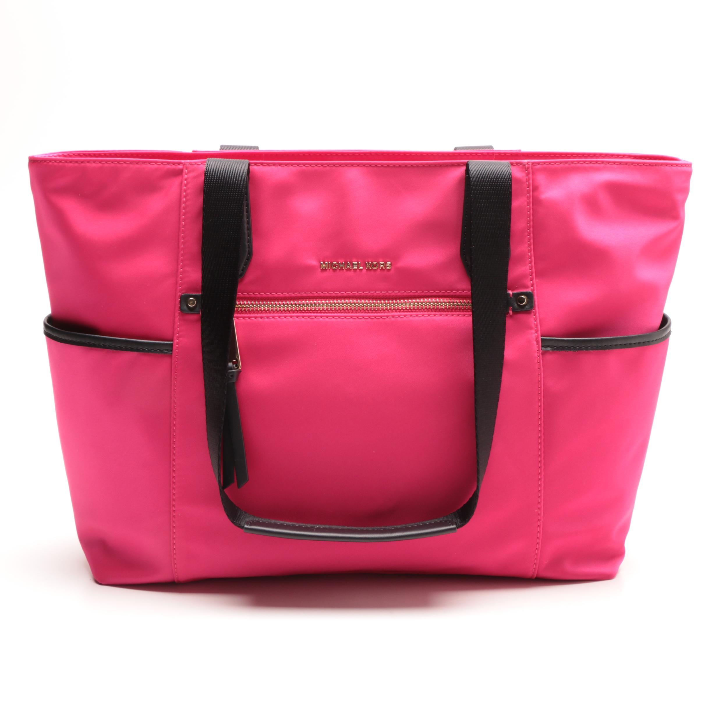 Designer Michael Kors Ultra Pink Colored Tote Bag