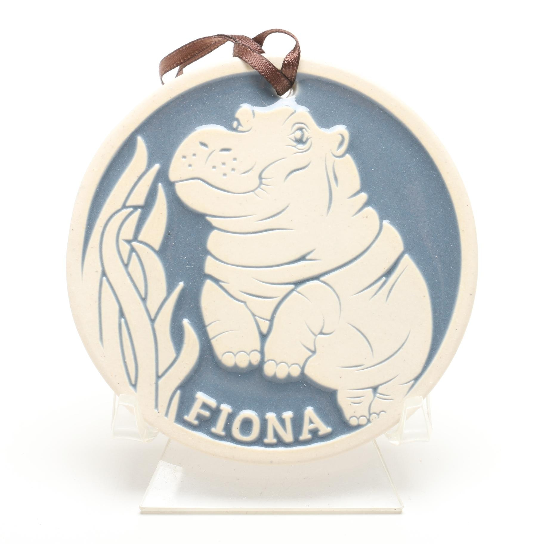 """Signed Mary Guanciale Rookwood Pottery Fiona """"A Star Is Born"""" Ornament"""