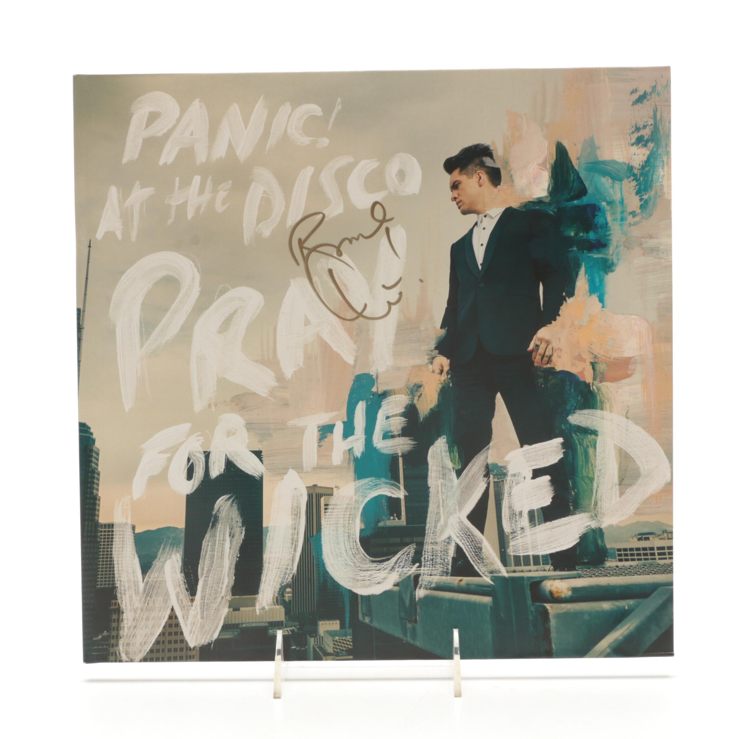 """Brendon Urie Signed """"Panic At The Disco"""" Album Cover  COA"""