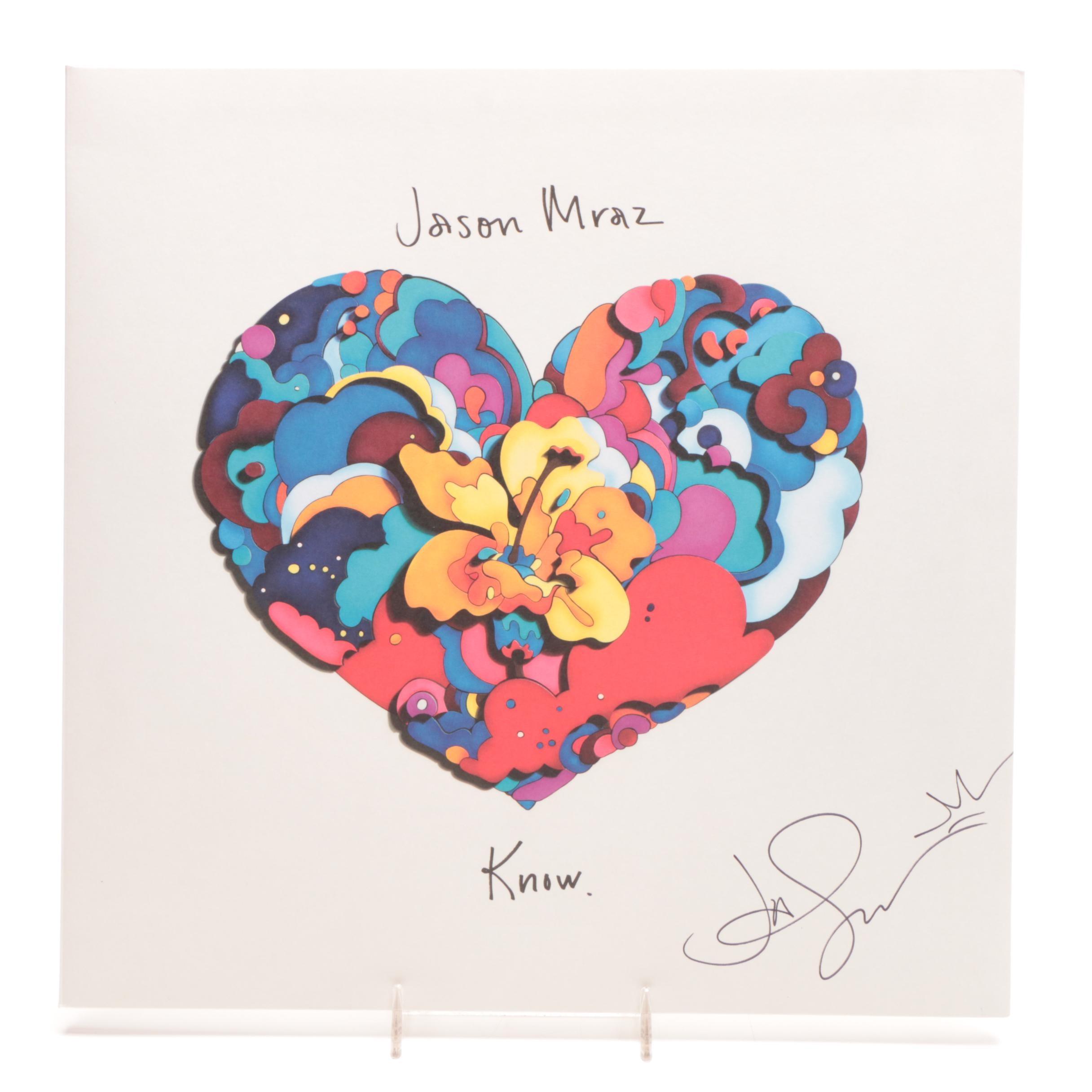 "Jason Mraz Signed ""Know"" Album Cover  COA"
