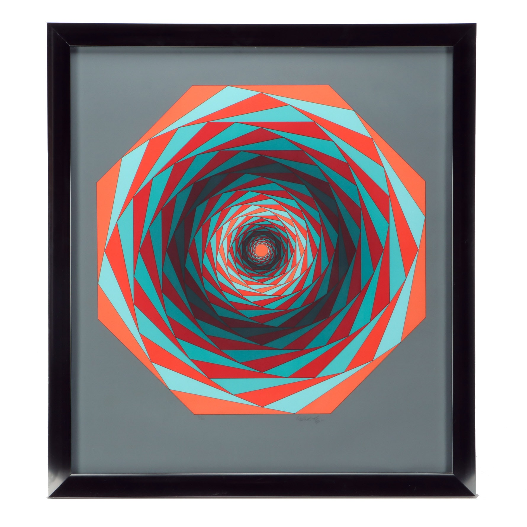 """Victor Vasarely 1986 Limited Edition Serigraph on Paper """"Kaglo II"""""""