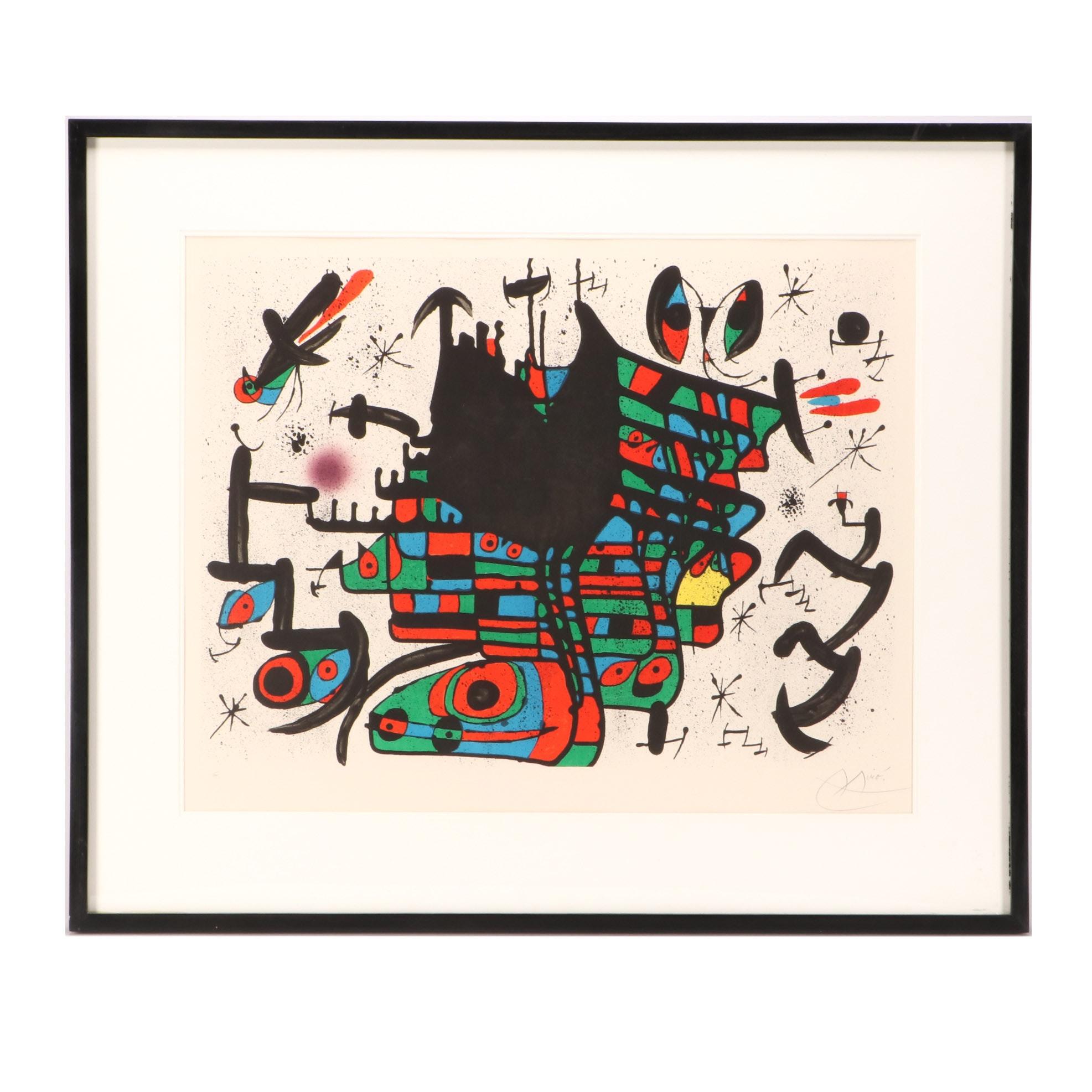 """Joan Miró 1971 Color Lithograph from Series """"Homenatge a Joan Prats"""""""