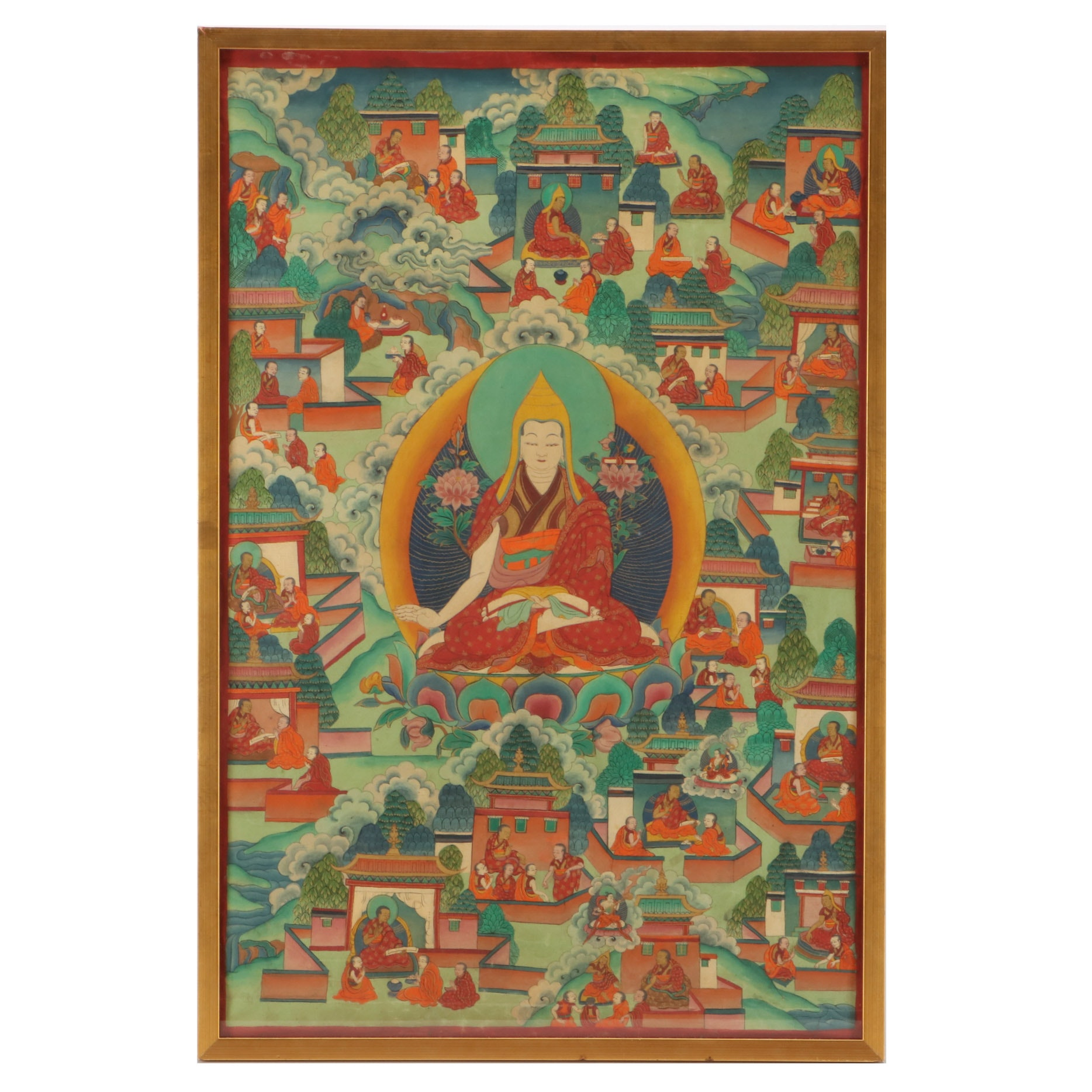 19th Century Tibetan Buddhist  Thangka Painting