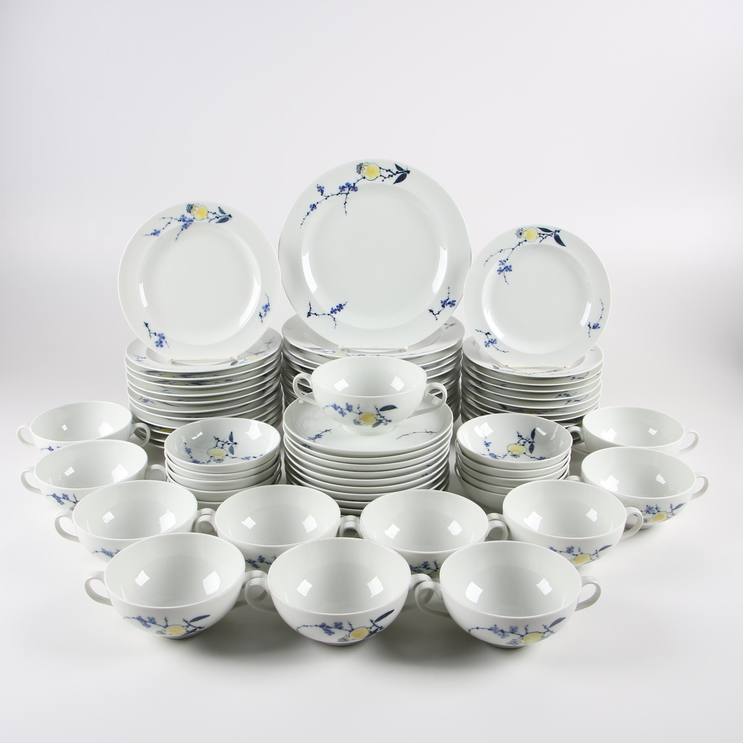 "Danish Modern Royal Copenhagen ""Rimmon"" Dinnerware by Johannes Hedegaard"