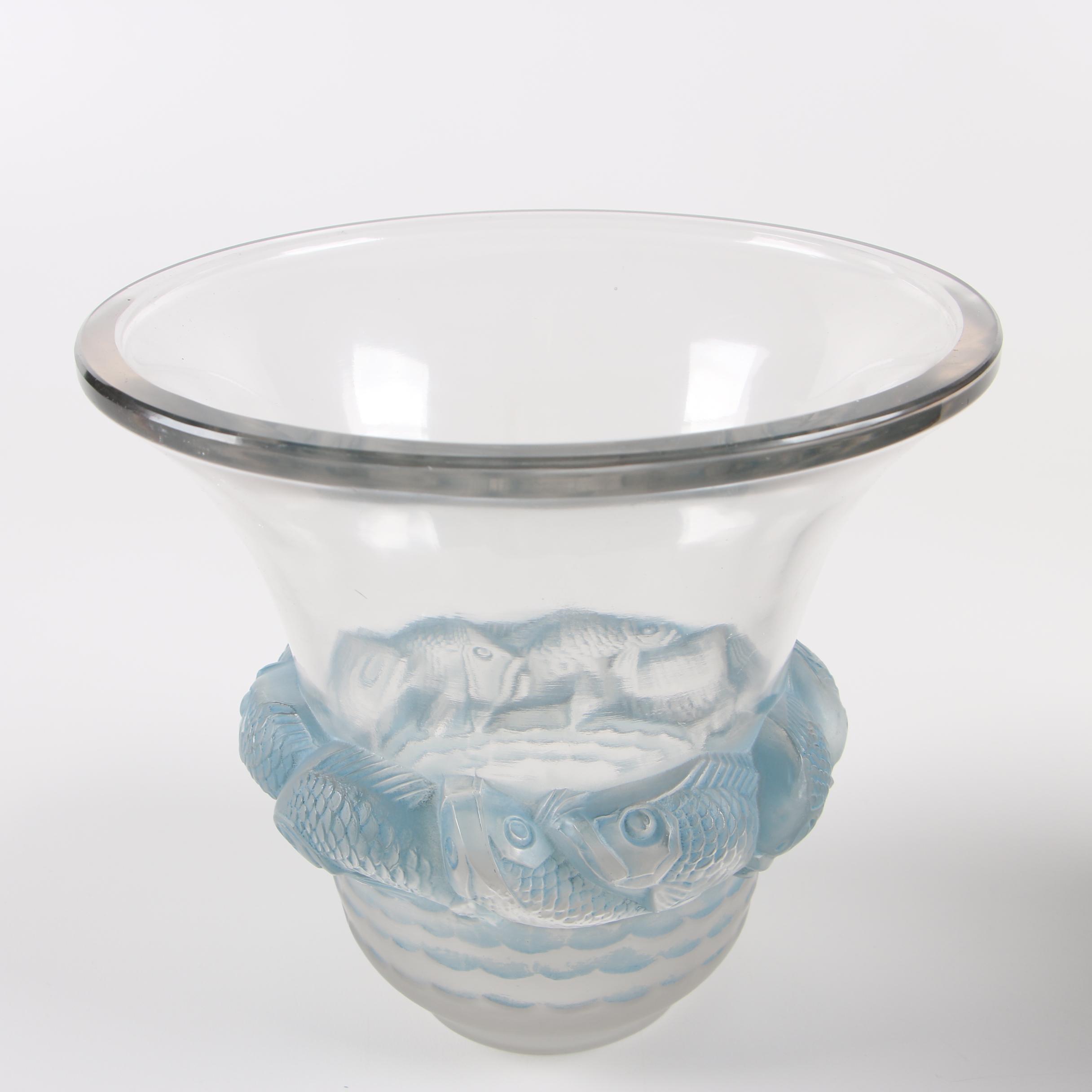 "Vintage René Lalique ""Piriac"" Art Glass Vase"