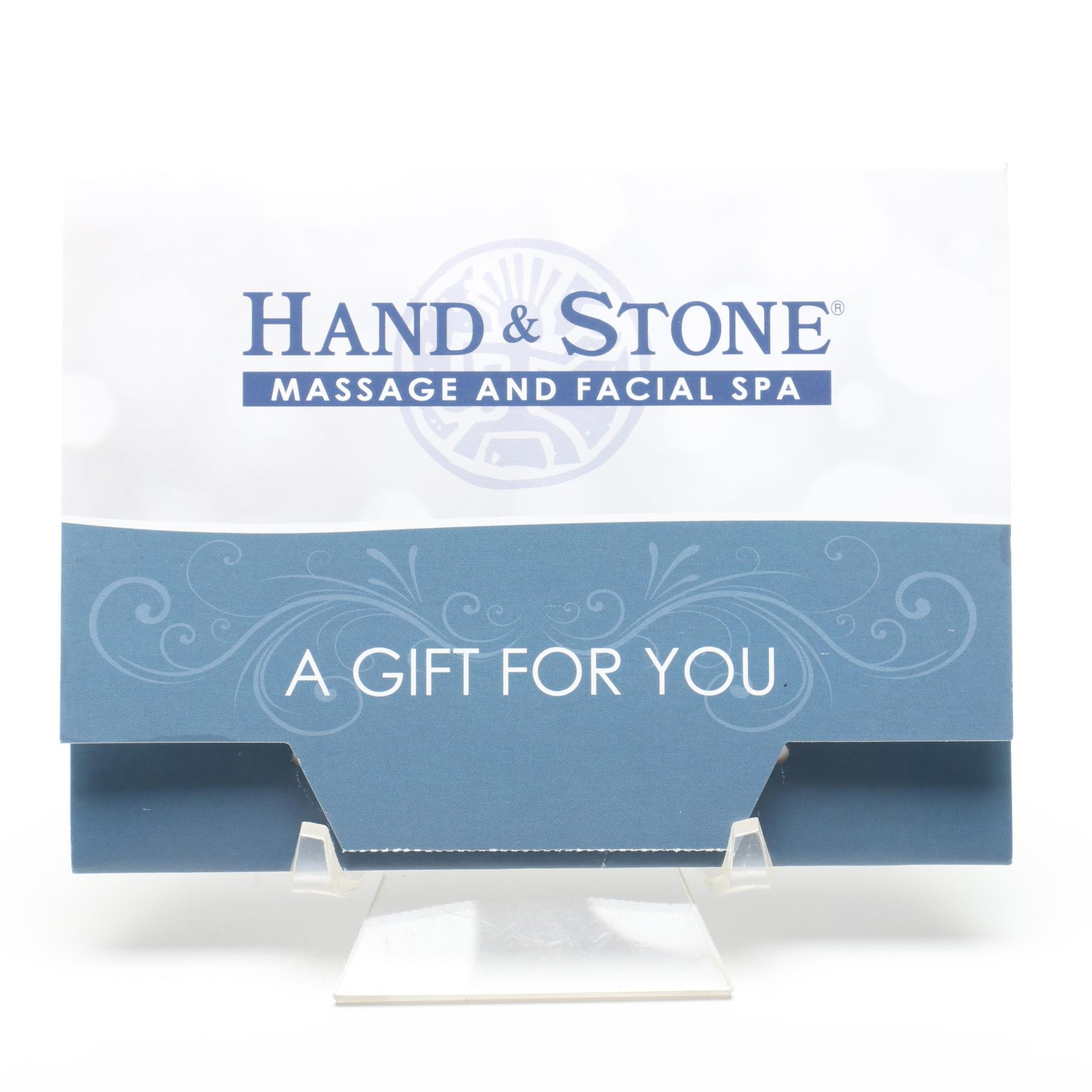Gift Card From Hand & Stone Massage and Facial Spa