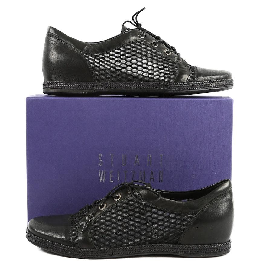 Stuart Weitzman Black Vecchio Nappa Leather Sneakers   EBTH 2787e6cc7