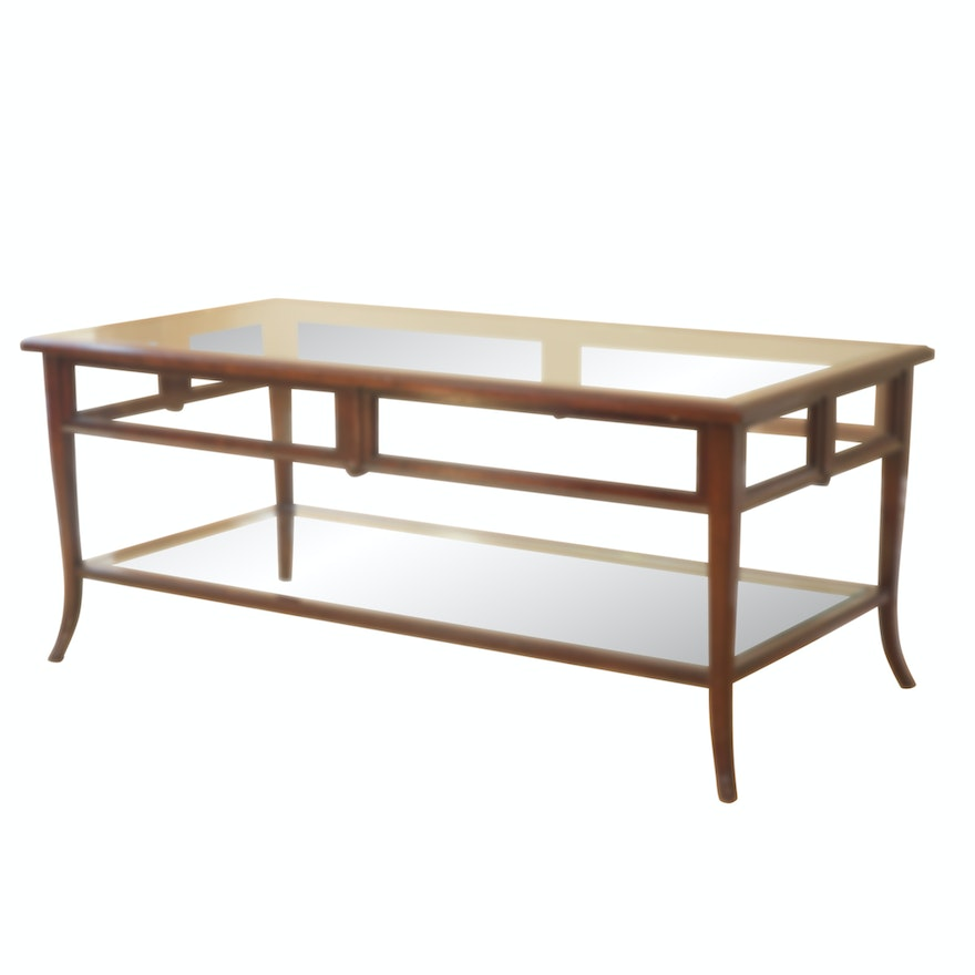 Glass Top Two-Tier Coffee Table