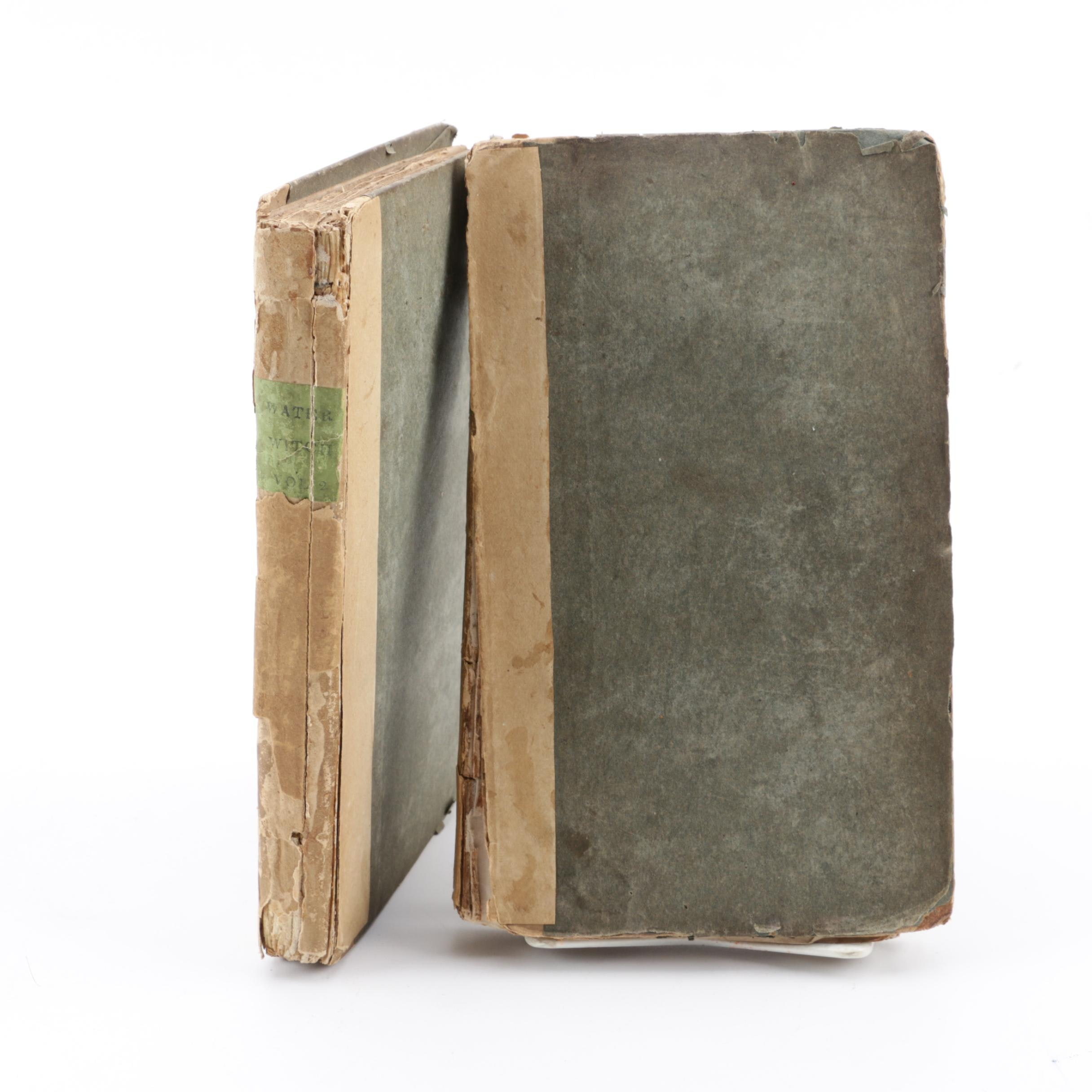 """1831 First US Edition """"The Water-Witch"""" by James Fenimore Cooper in Two Volumes"""