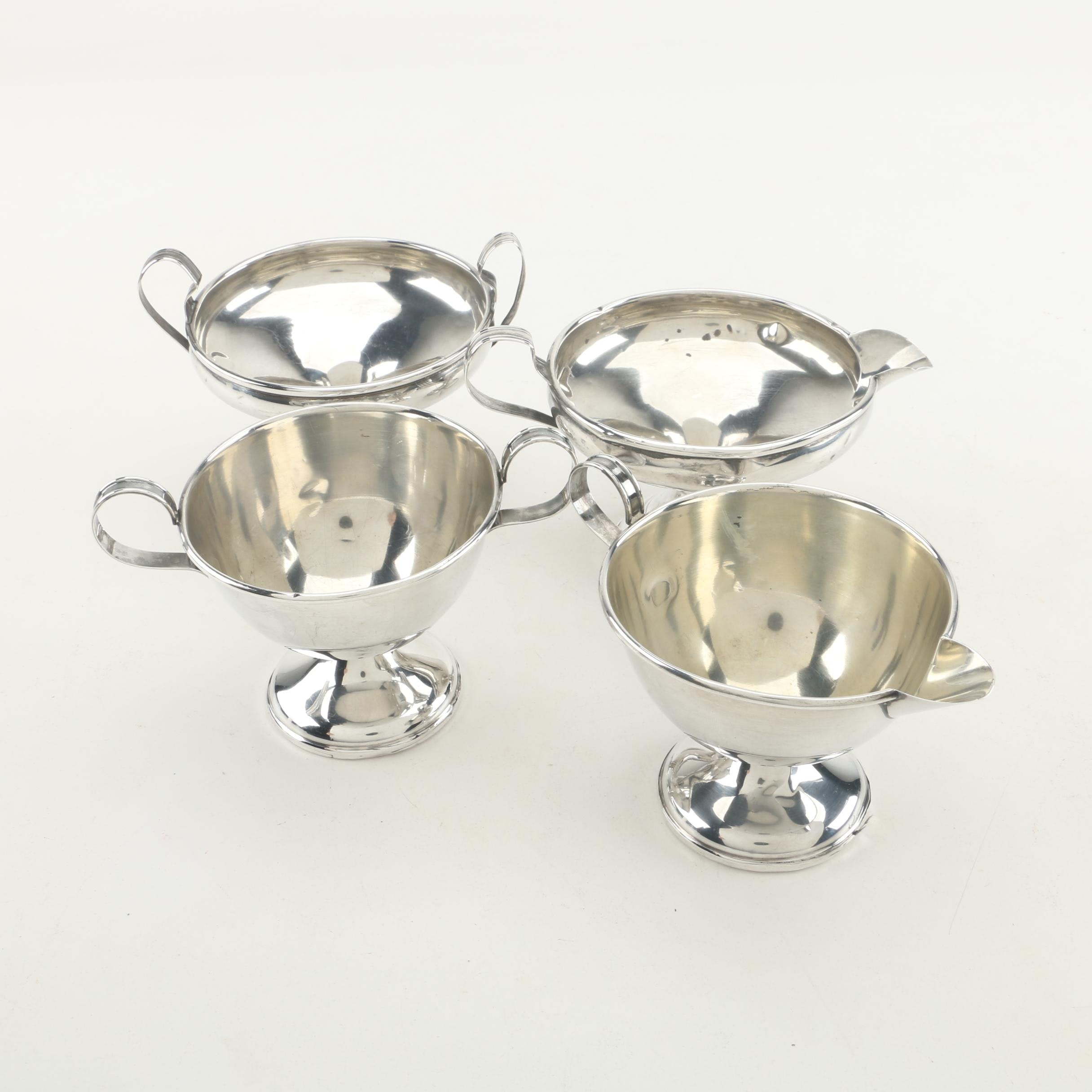 Vintage Weighted Sterling Sugar and Creamer Sets featuring Elgin Silversmith Co.