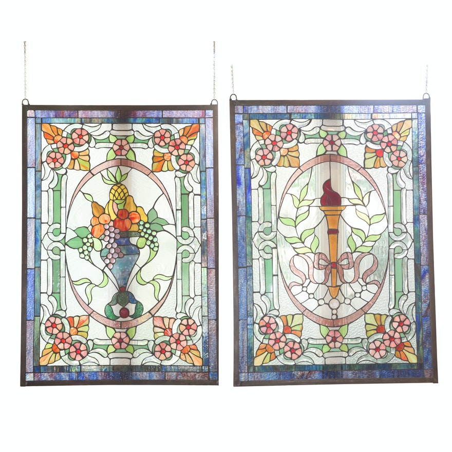 Stained Glass Hanging Panels