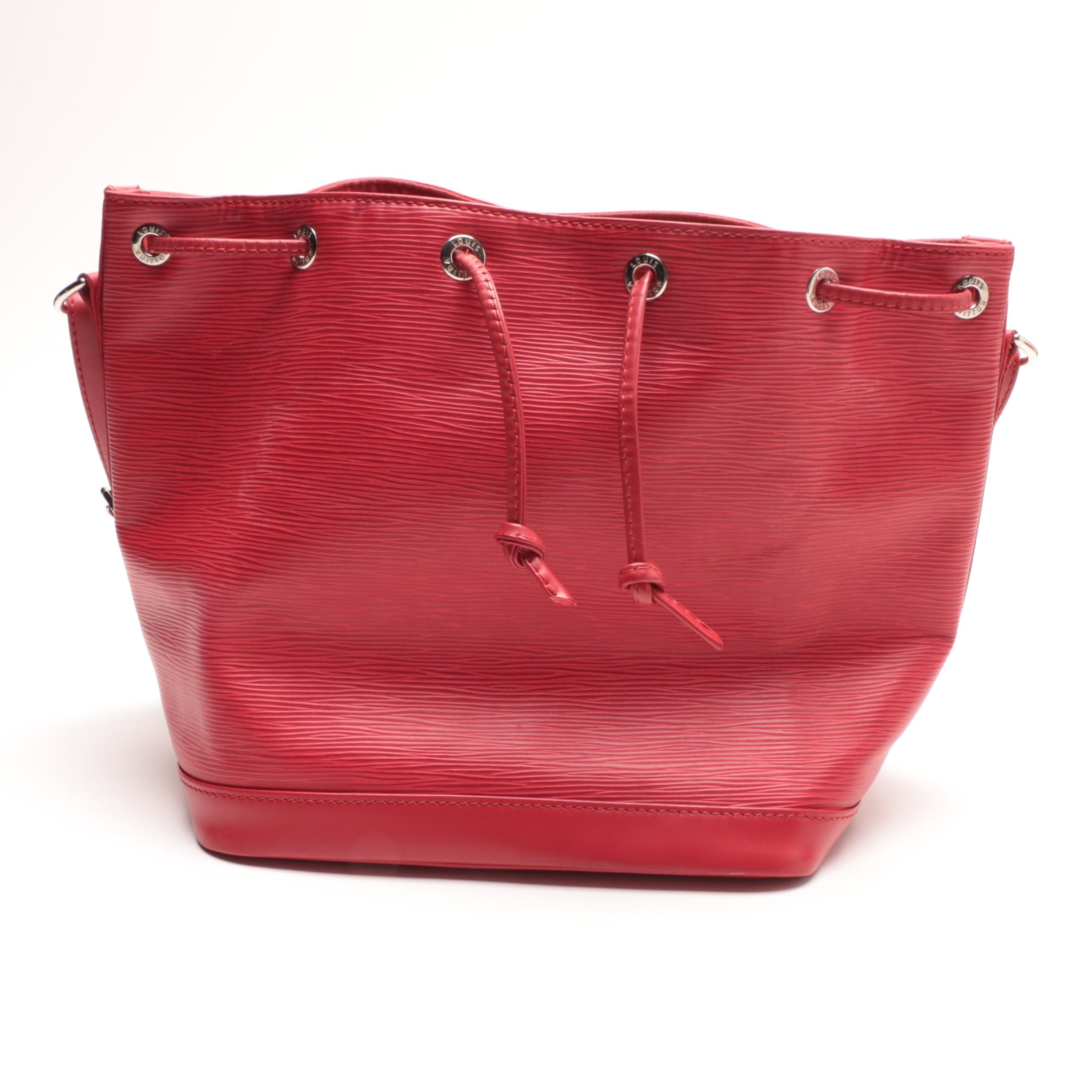 Louis Vuitton of Paris Red Epi Leather Noe Bucket Bag