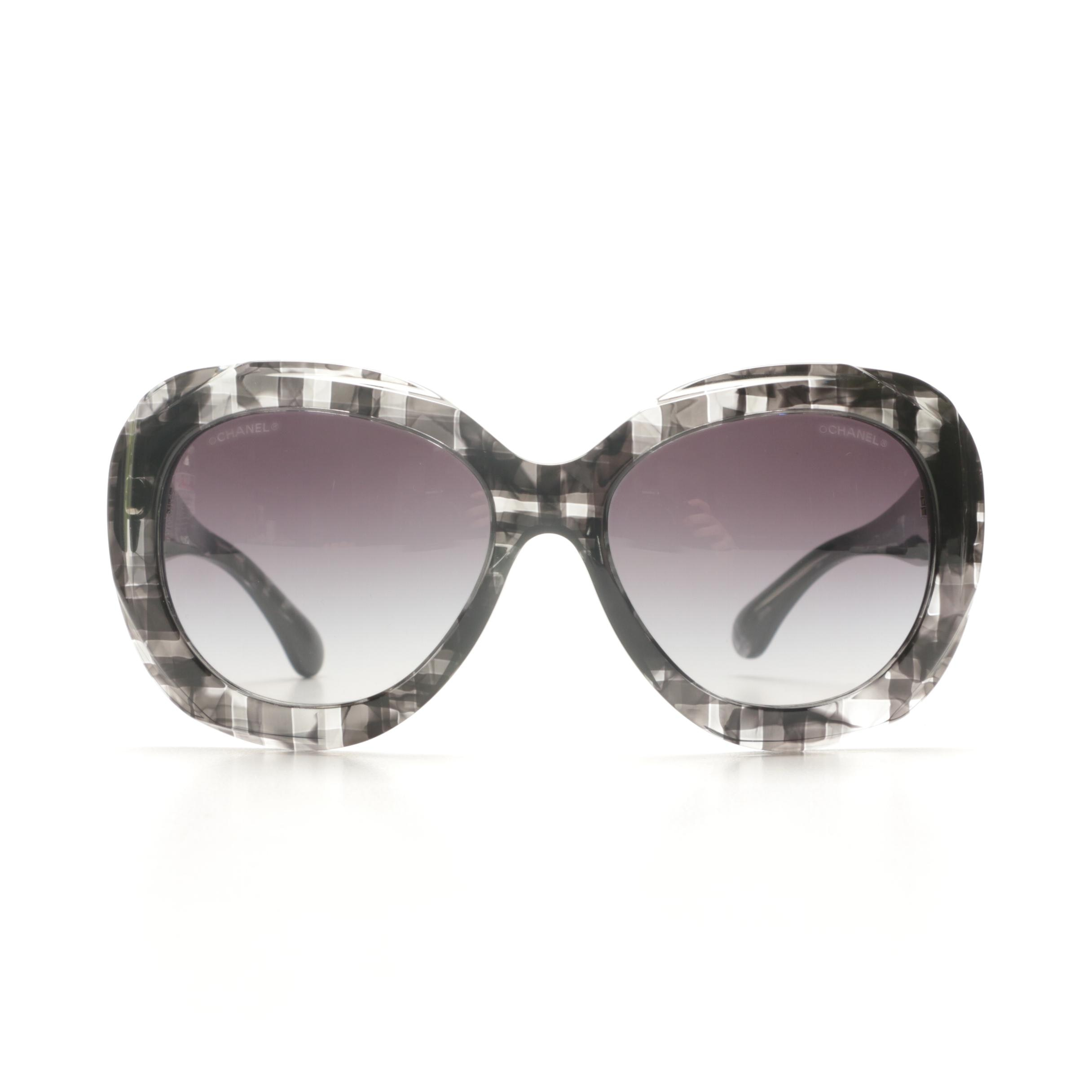 Chanel CC Logo Butterfly-Style Sunglasses
