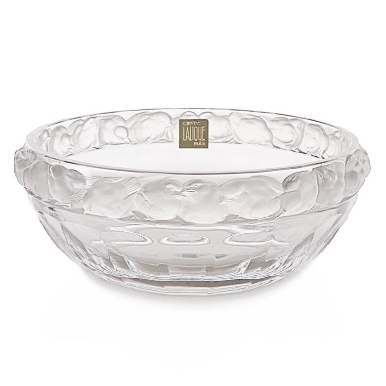 """Lalique Crystal """"Mésange"""" Bowl"""