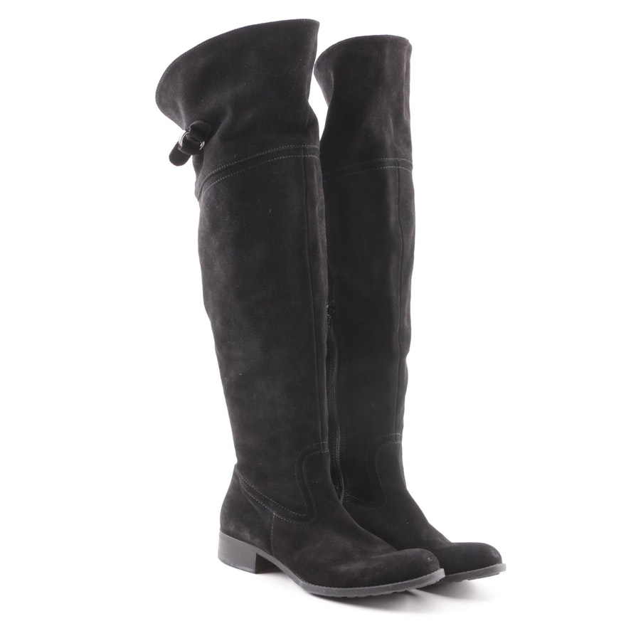 8106d1d5cea5 Donna Piú Black Suede Over-the-Knee Boots   EBTH