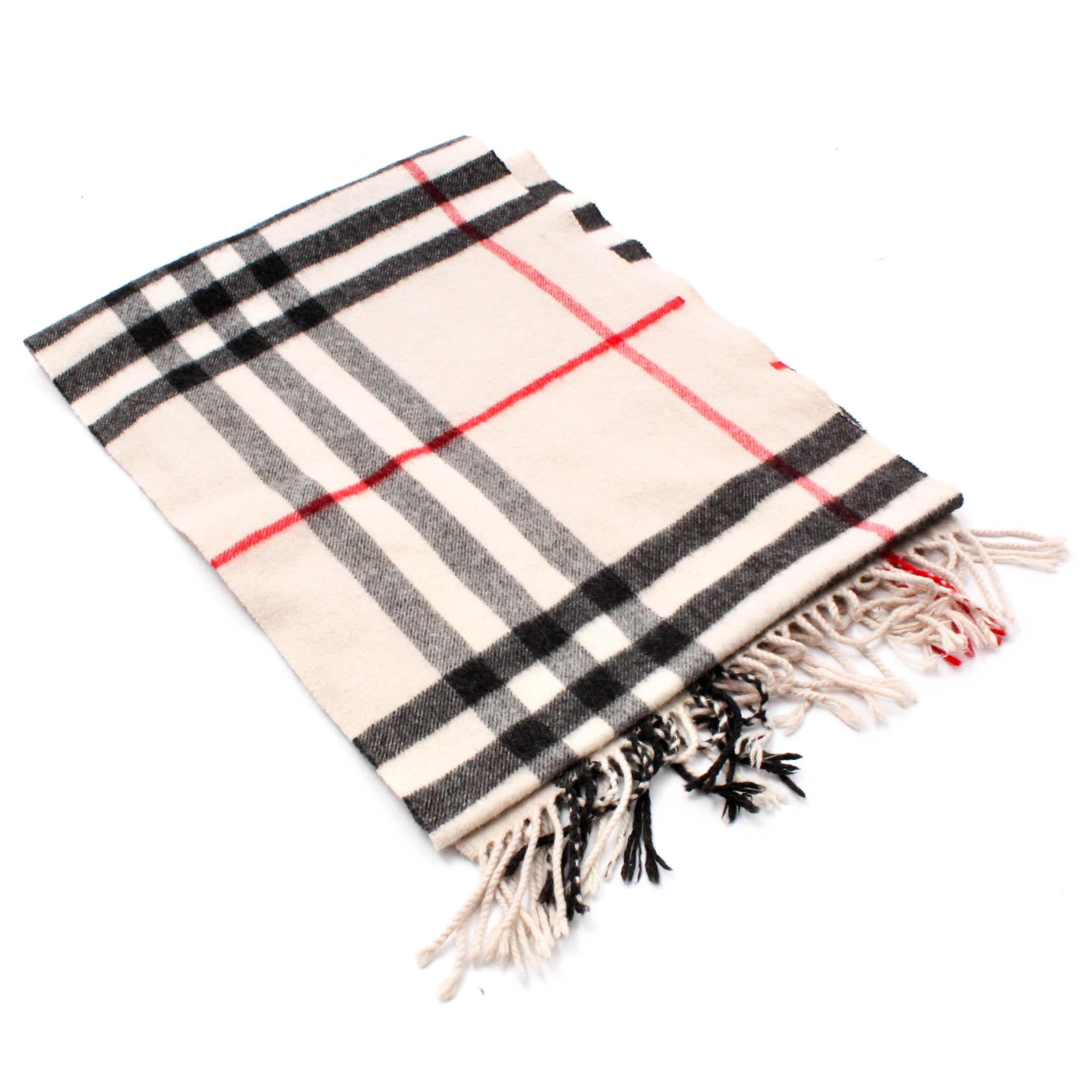 14f9c273c998 ... ireland burberry nova check cashmere scarf with fringe made in scotland  2e692 cdfe0