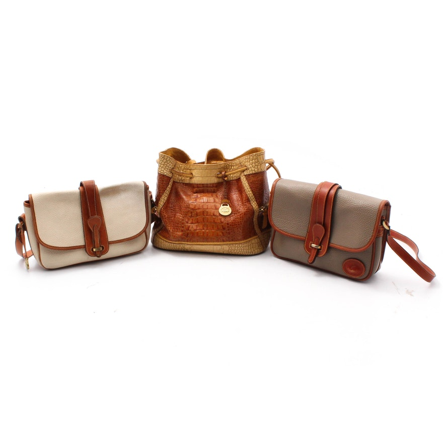 049725ea4e47 Dooney   Bourke Crossbody Bags and Brahmin Drawstring Bucket Bag   EBTH
