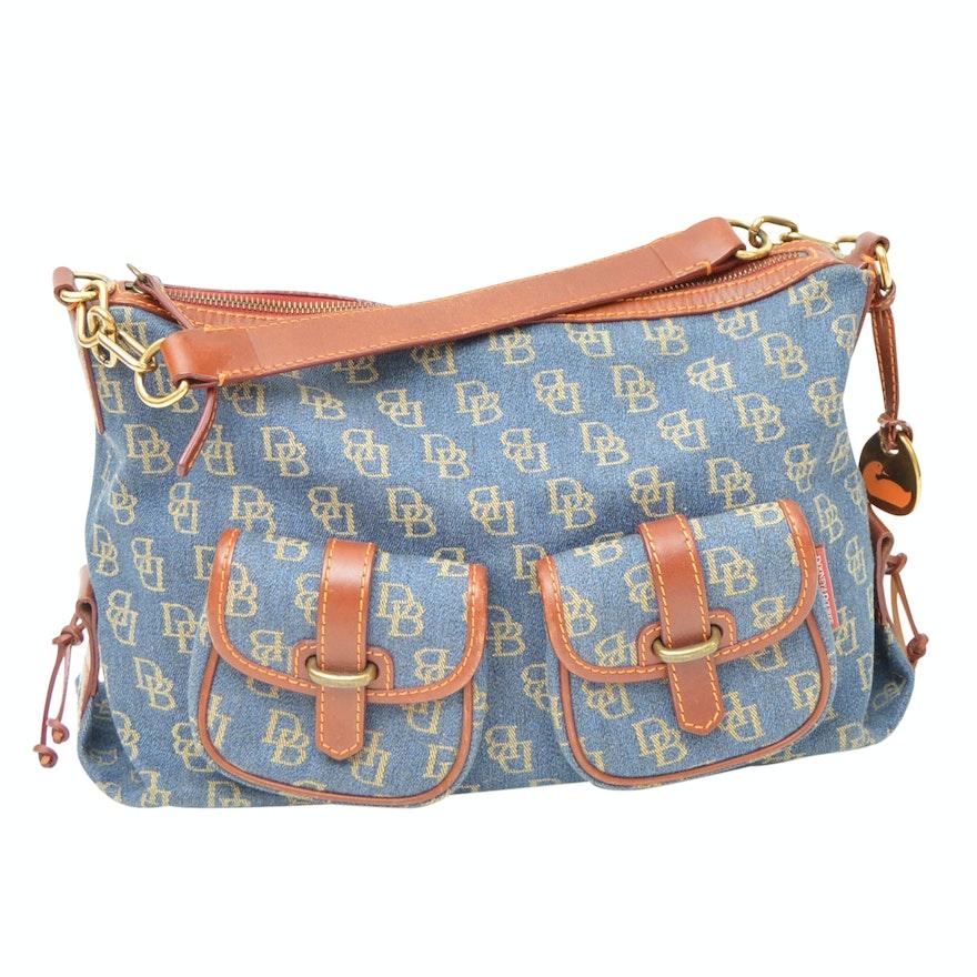 bda0d643136 Dooney   Bourke Signature Canvas and Leather Shoulder Bag   EBTH