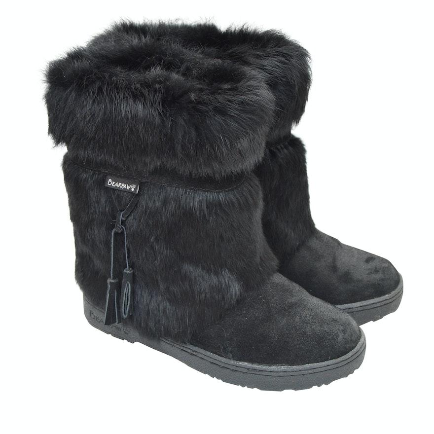 a7da361f99d31 Women's Bear Paw Suede, Sheepskin and Rabbit Fur Boots