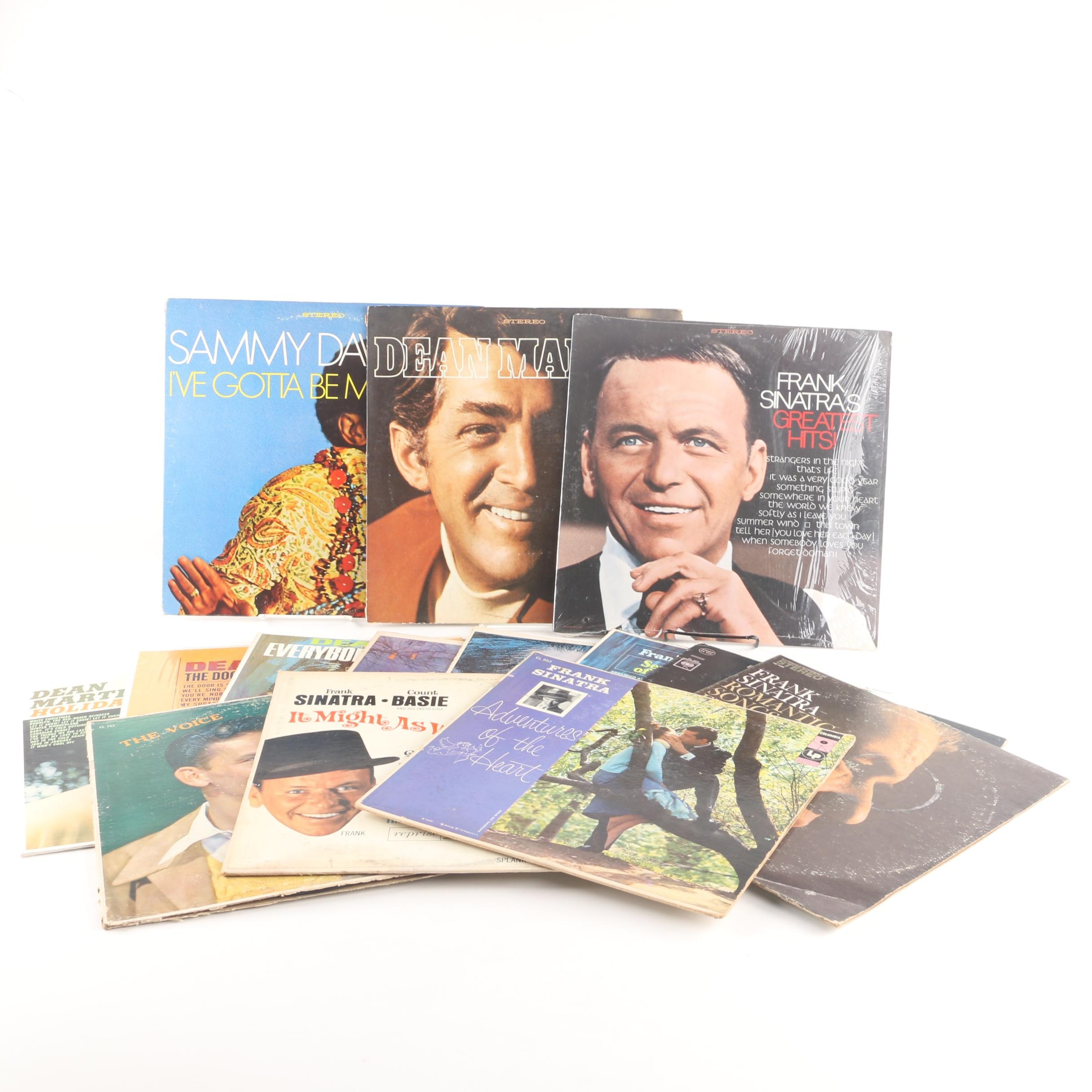 Vintage Records from Frank Sinatra, Dean Martin, and Sammy Davis Jr.