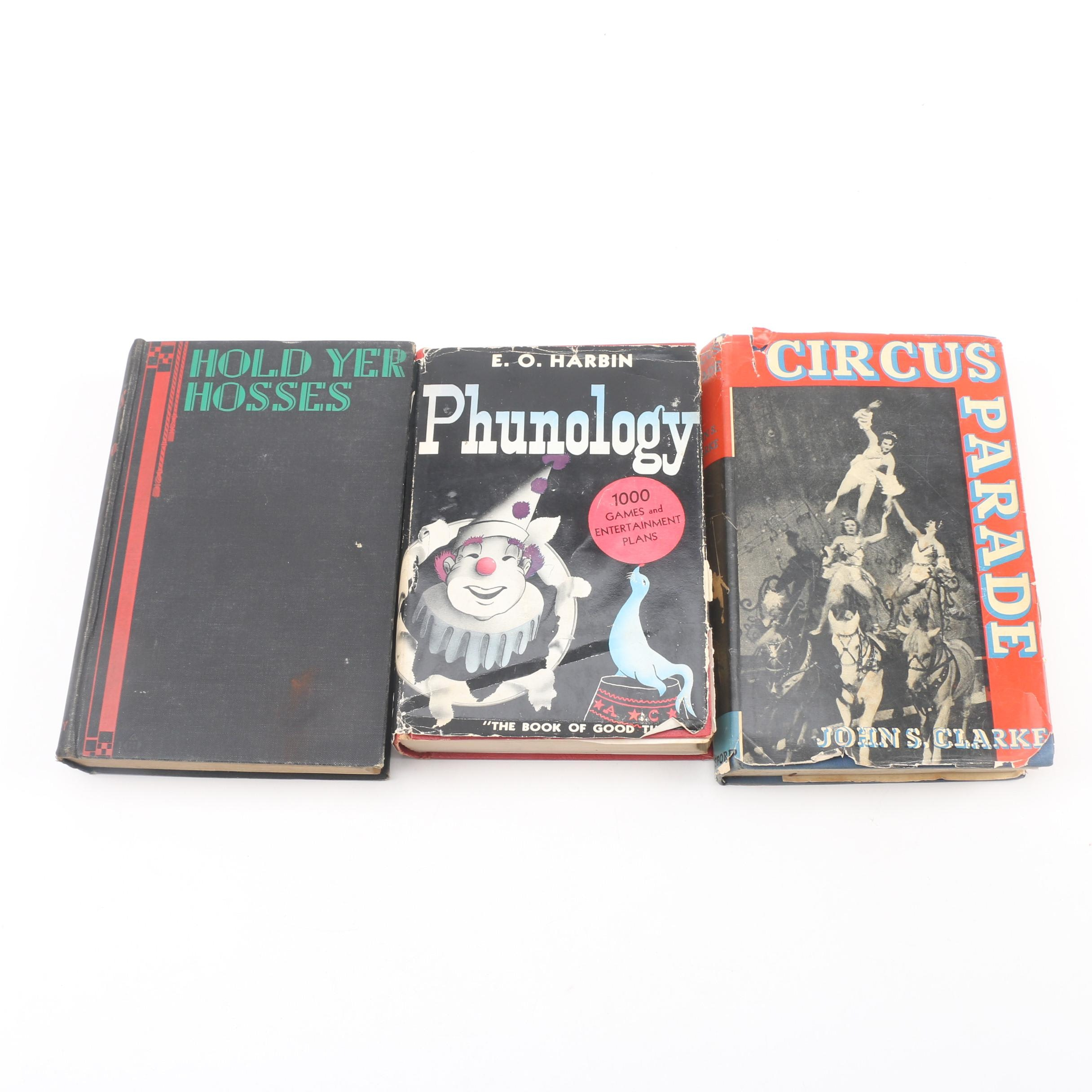 Books on Circuses, Clowns, and Games