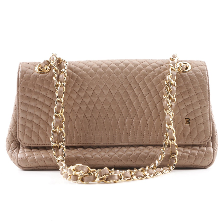 Bally Taupe Quilted Leather Handbag   EBTH ec82c8d89b