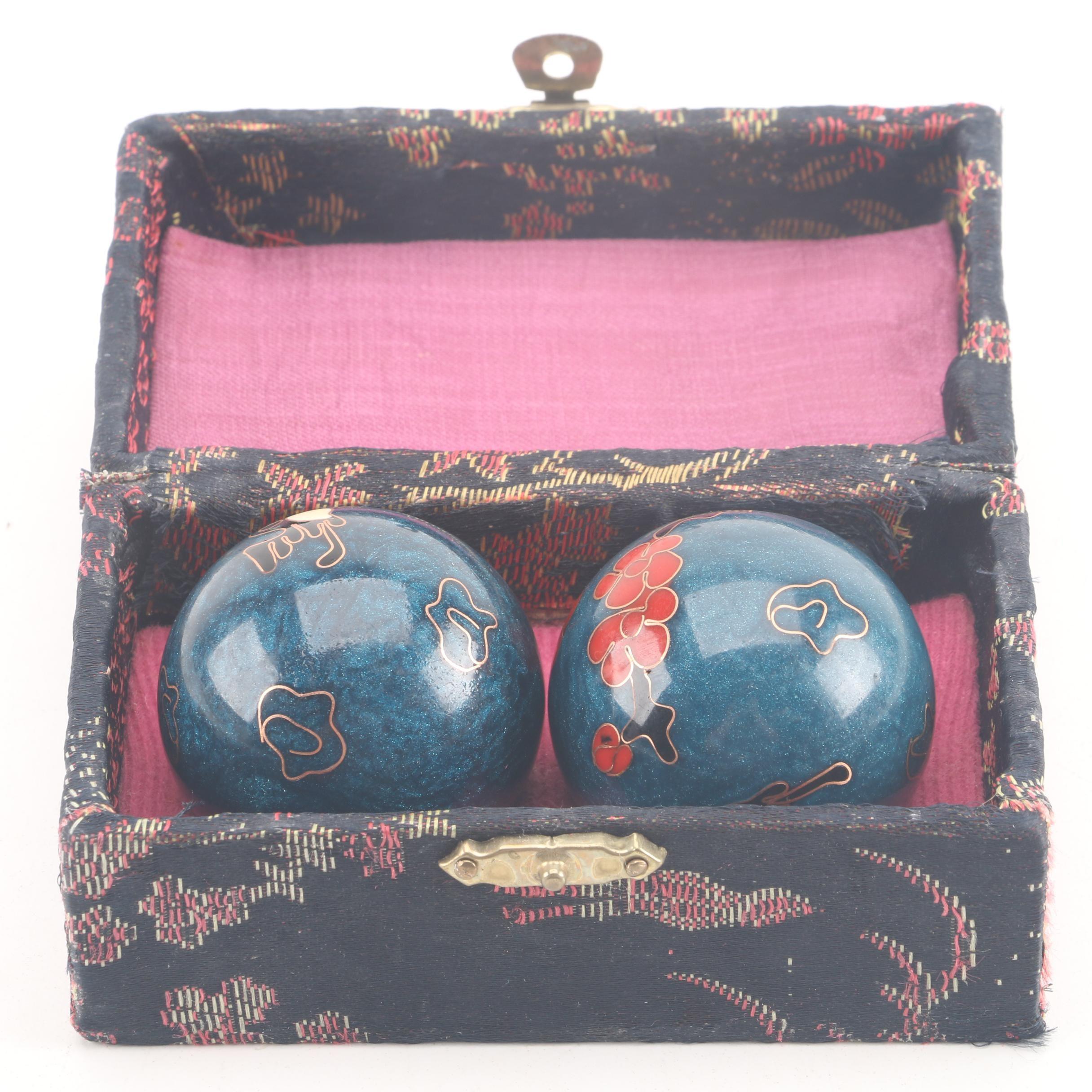 Chinese Cloisonné Baoding Balls