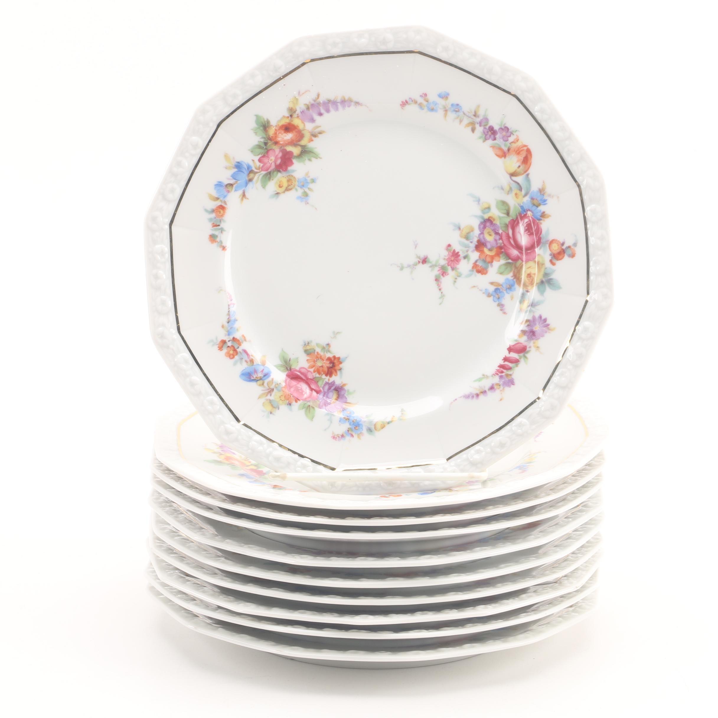 "1945-49 Rosenthal ""Maria"" Porcelain Salad Plates"
