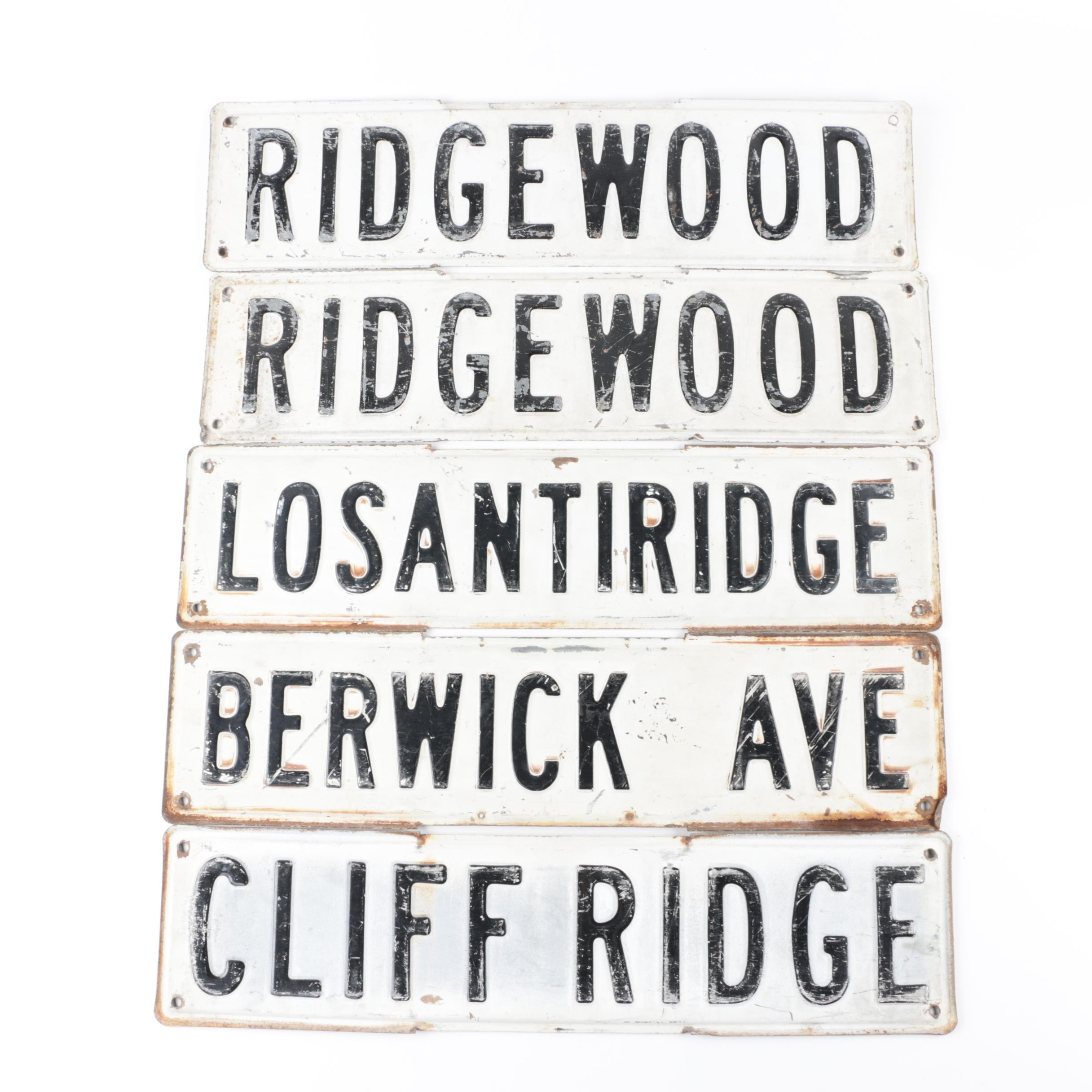 Ridgewood, Berwick Ave, and Other Street Name Signs