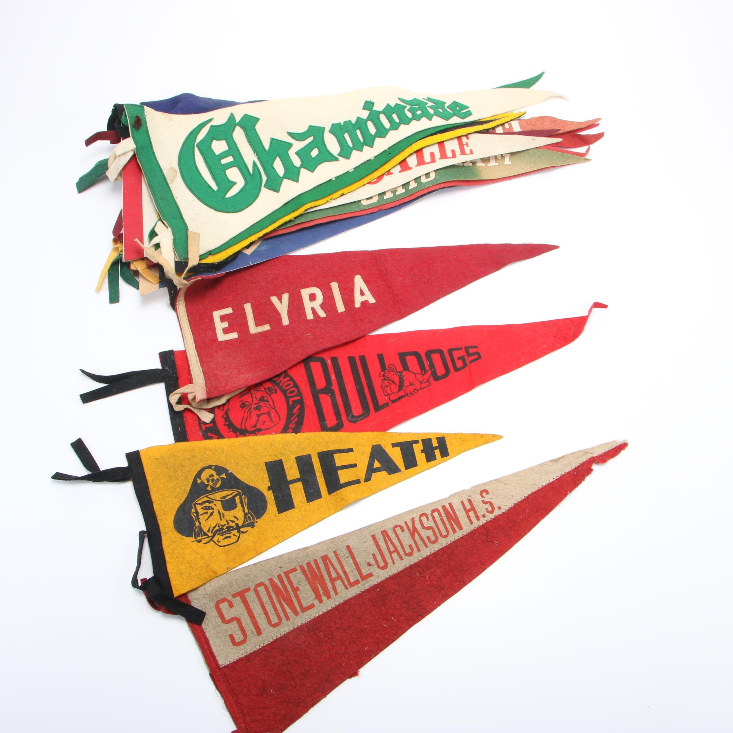 Vintage Pennants including Cincinnati and the Cub Scouts