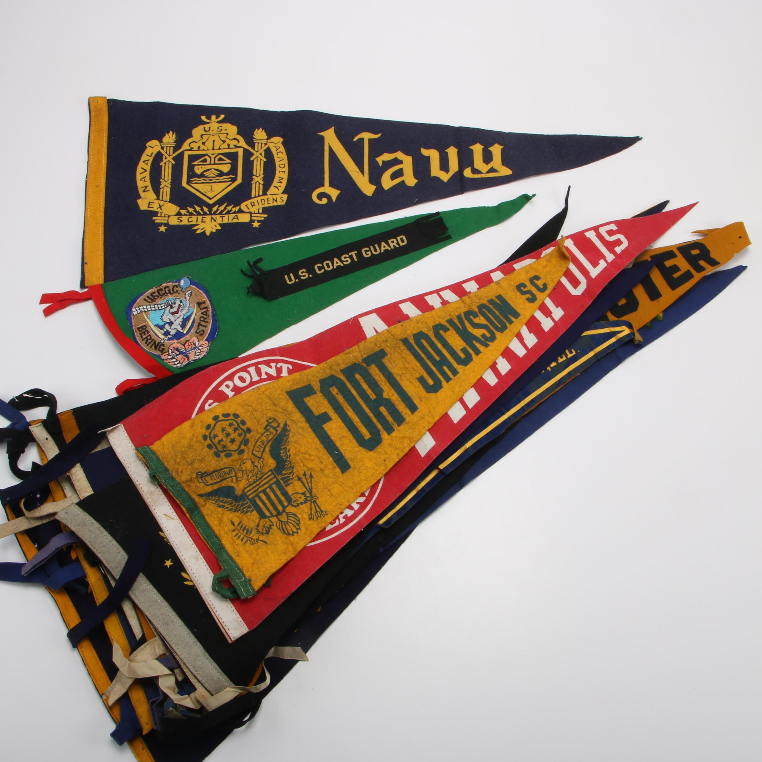 Vintage U.S. Military and Other Pennants