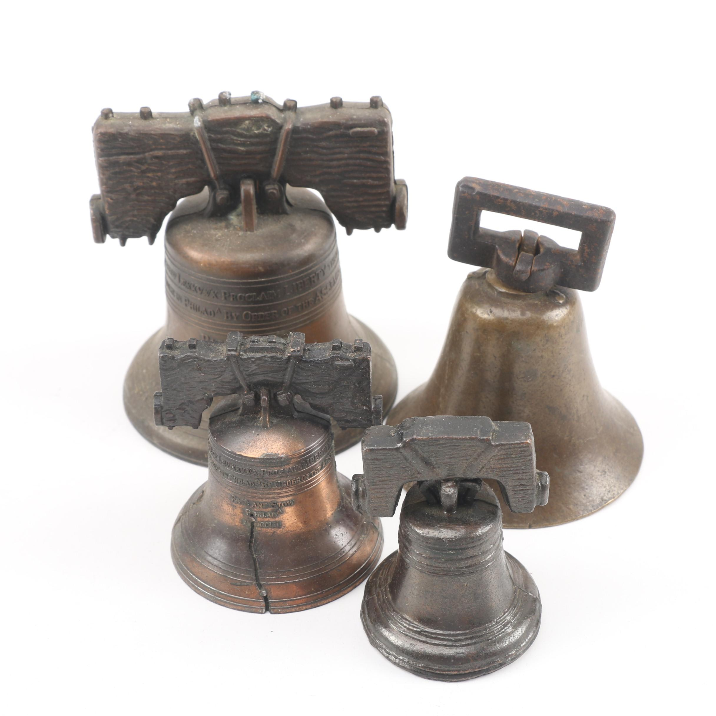 Vintage Replica Liberty Bells and Hanging Bell