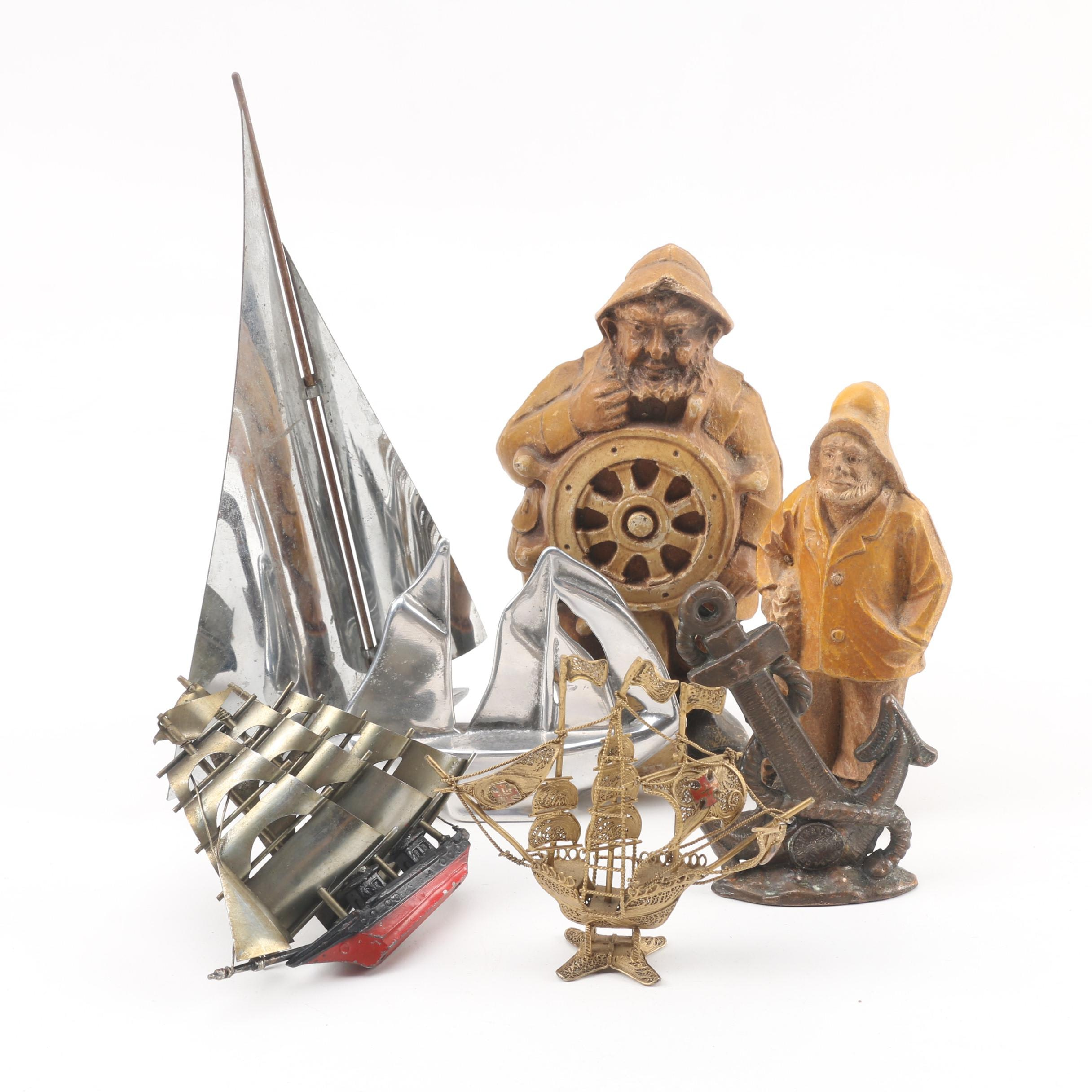 Vintage Maritime Themed Table Decor