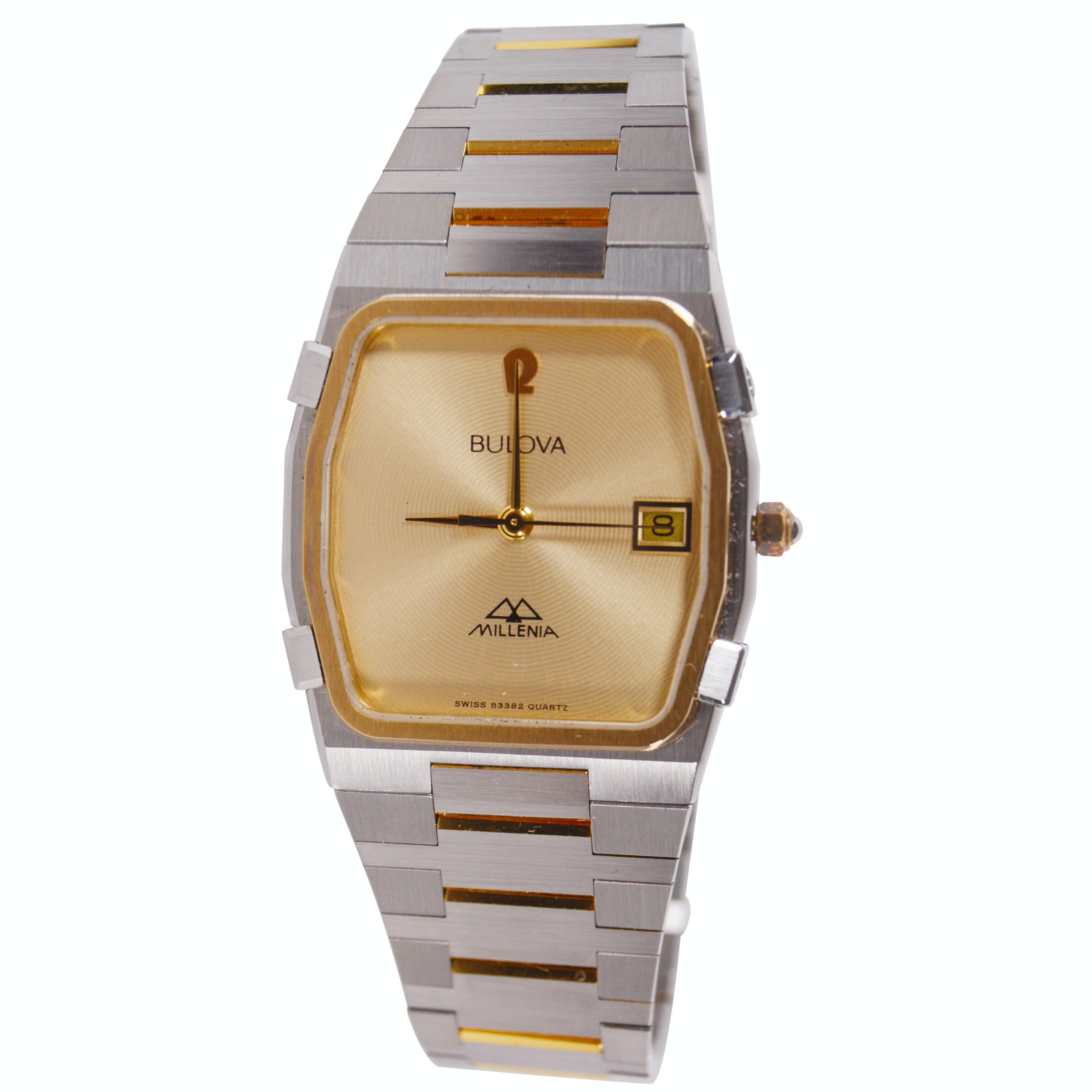 """Bulova """"Millenia Book 21"""" Stainless Wristwatch"""