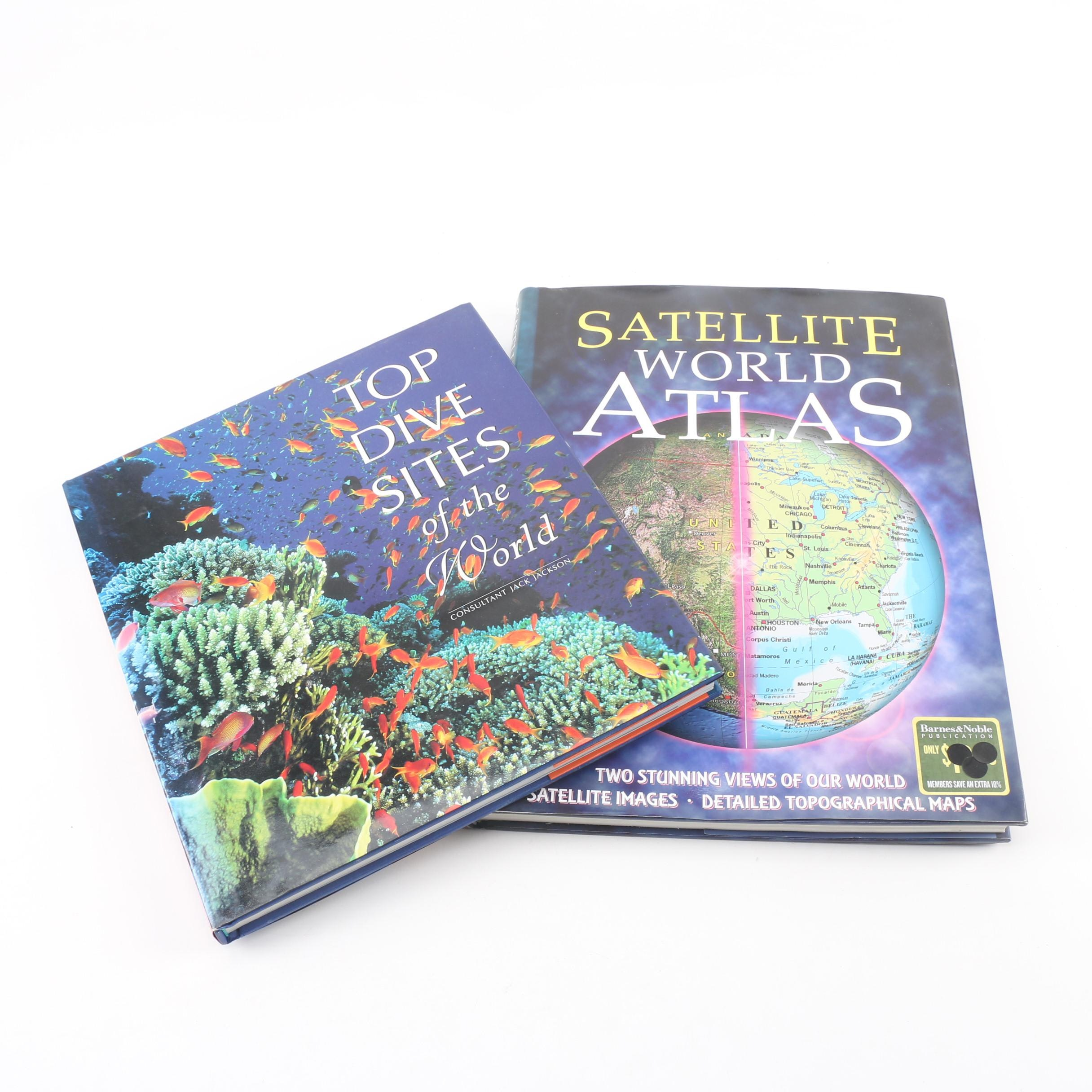 "2003 Satellite World Atlas with 1997 ""Top Dive Sites of the World"""
