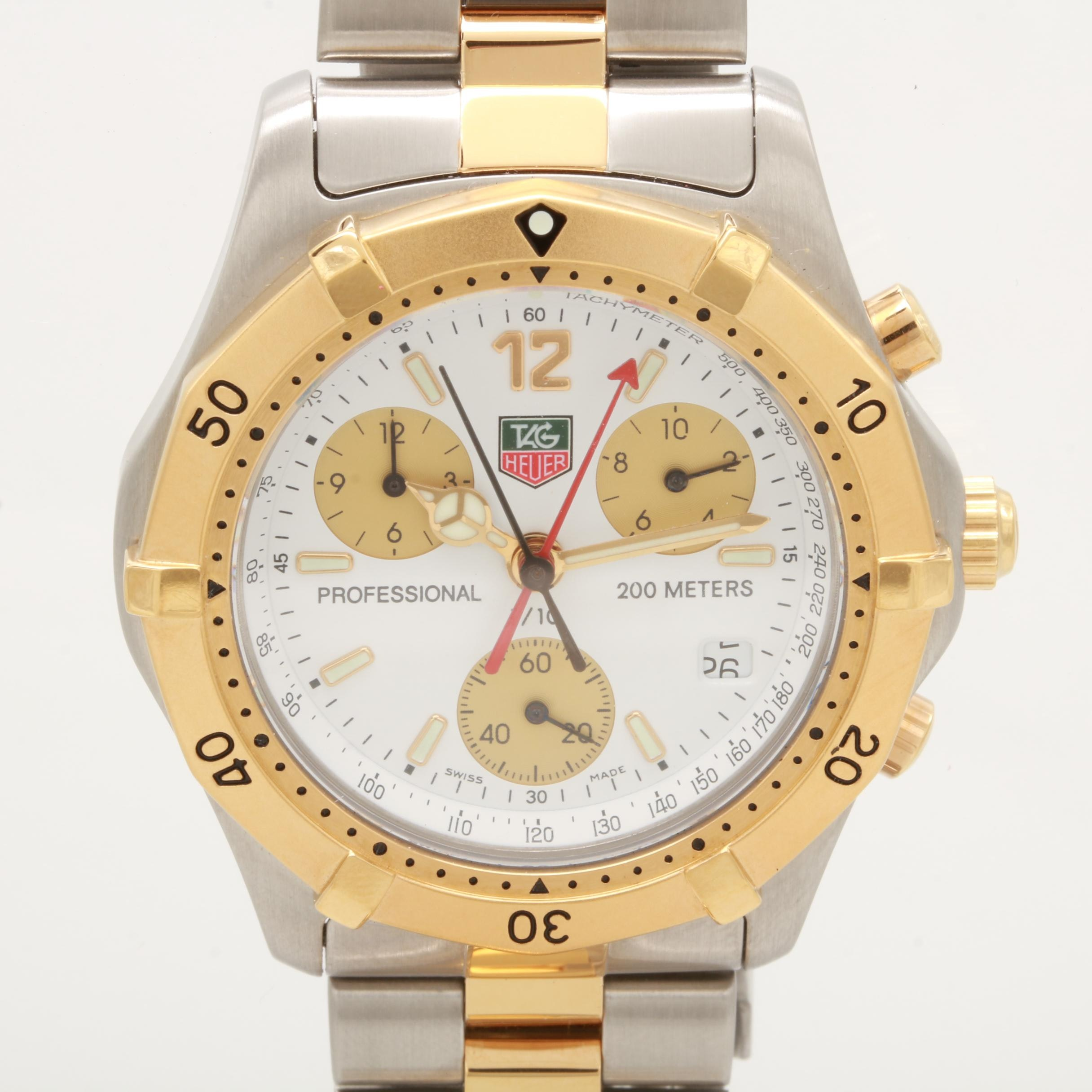 TAG Heuer 2000 Series Two-Tone Chronograph Wristwatch
