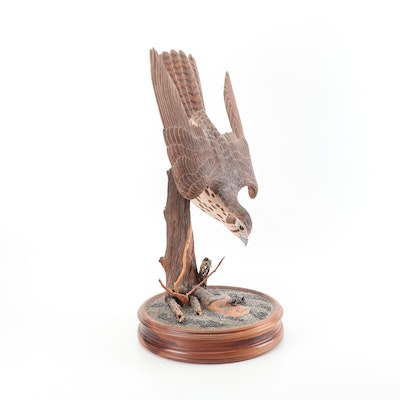 Don Osier Peregrine Falcon Wood Carving