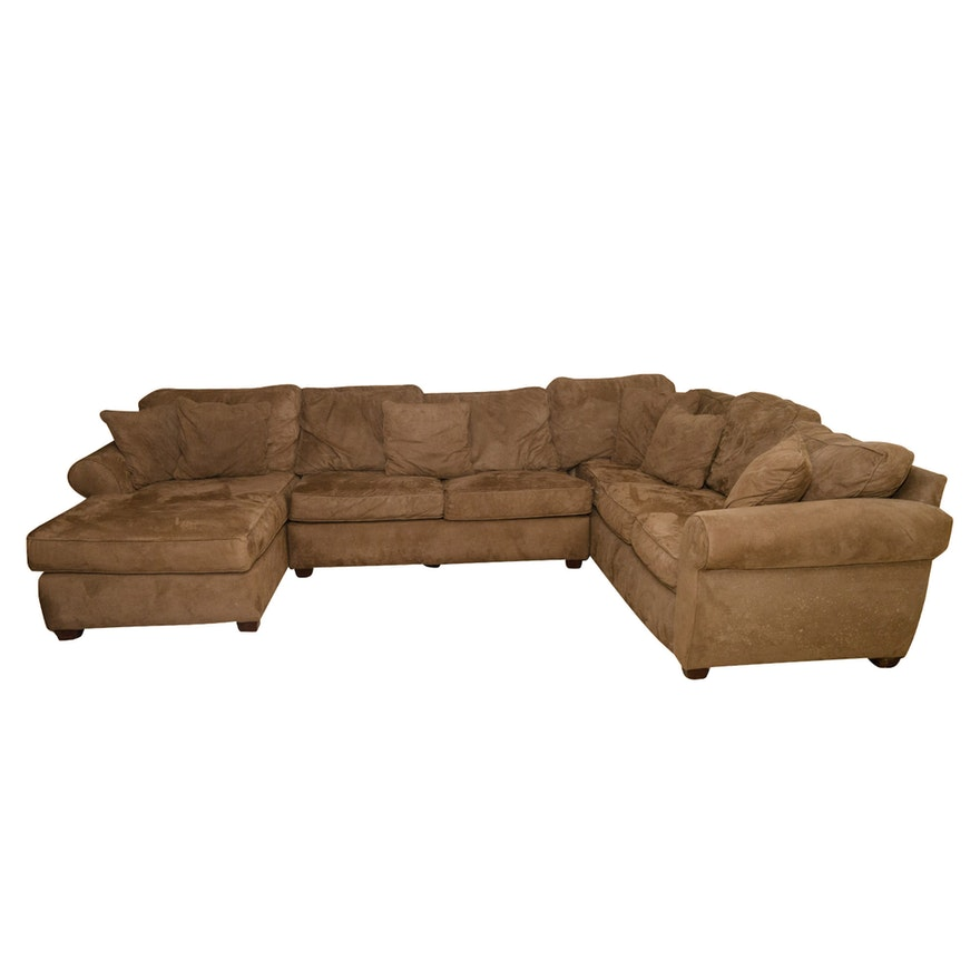 Microfiber Sectional Sleeper Sofa by Alan White