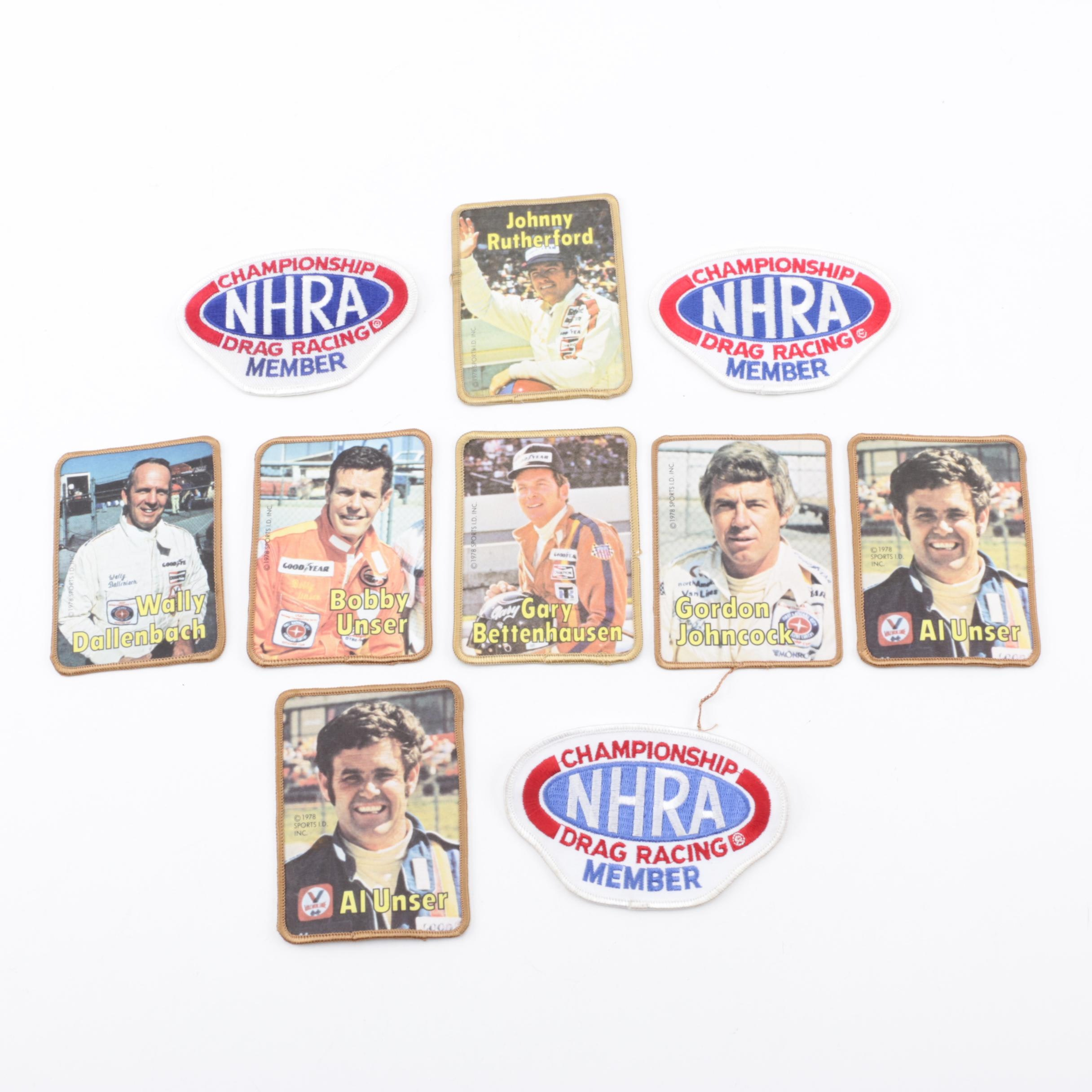 1970's NHRA Drag Racing Patches Including Al and Bobby Unser