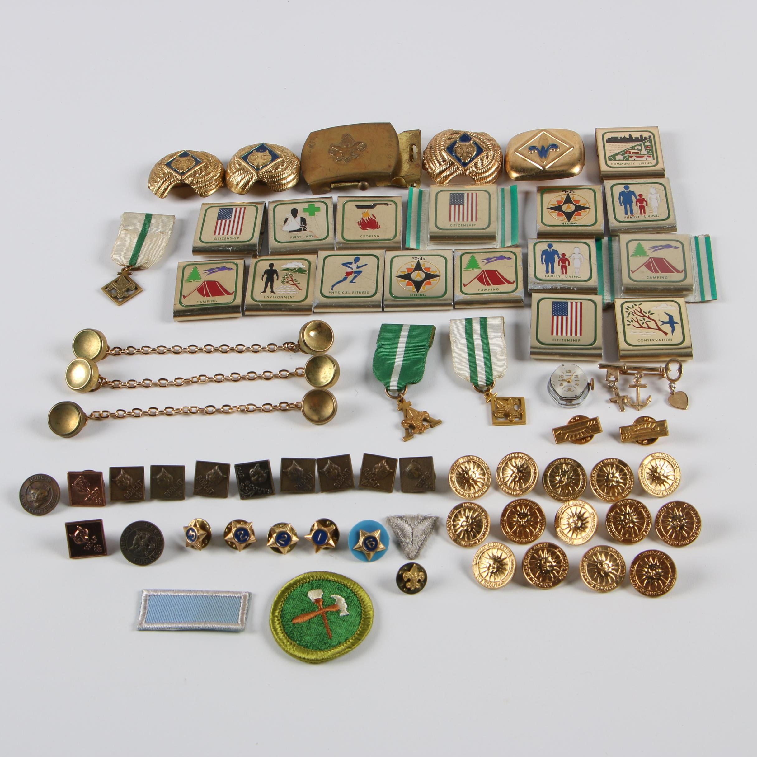 Boy Scouts of America Pins, Patches, Buckles, and More